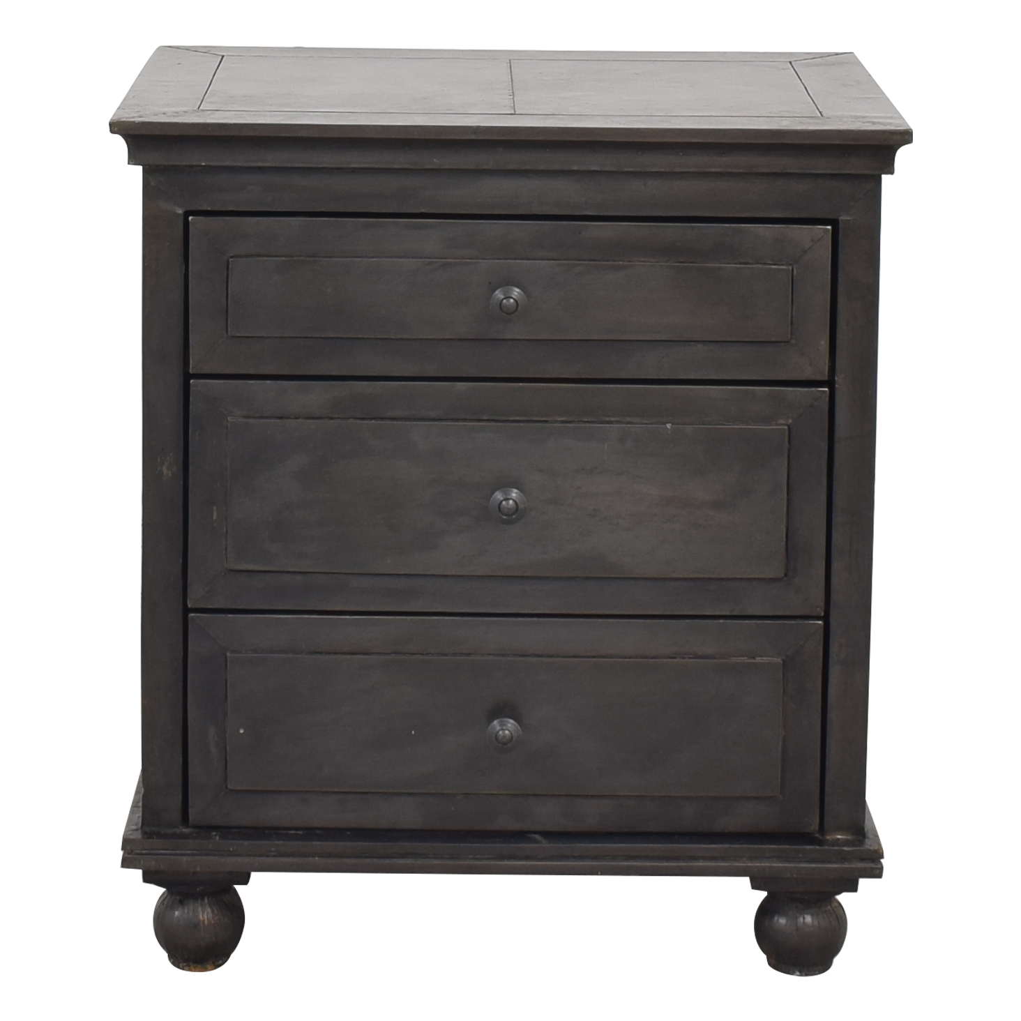 shop Restoration Hardware Annecy Metal-Wrapped Closed Nightstand Restoration Hardware