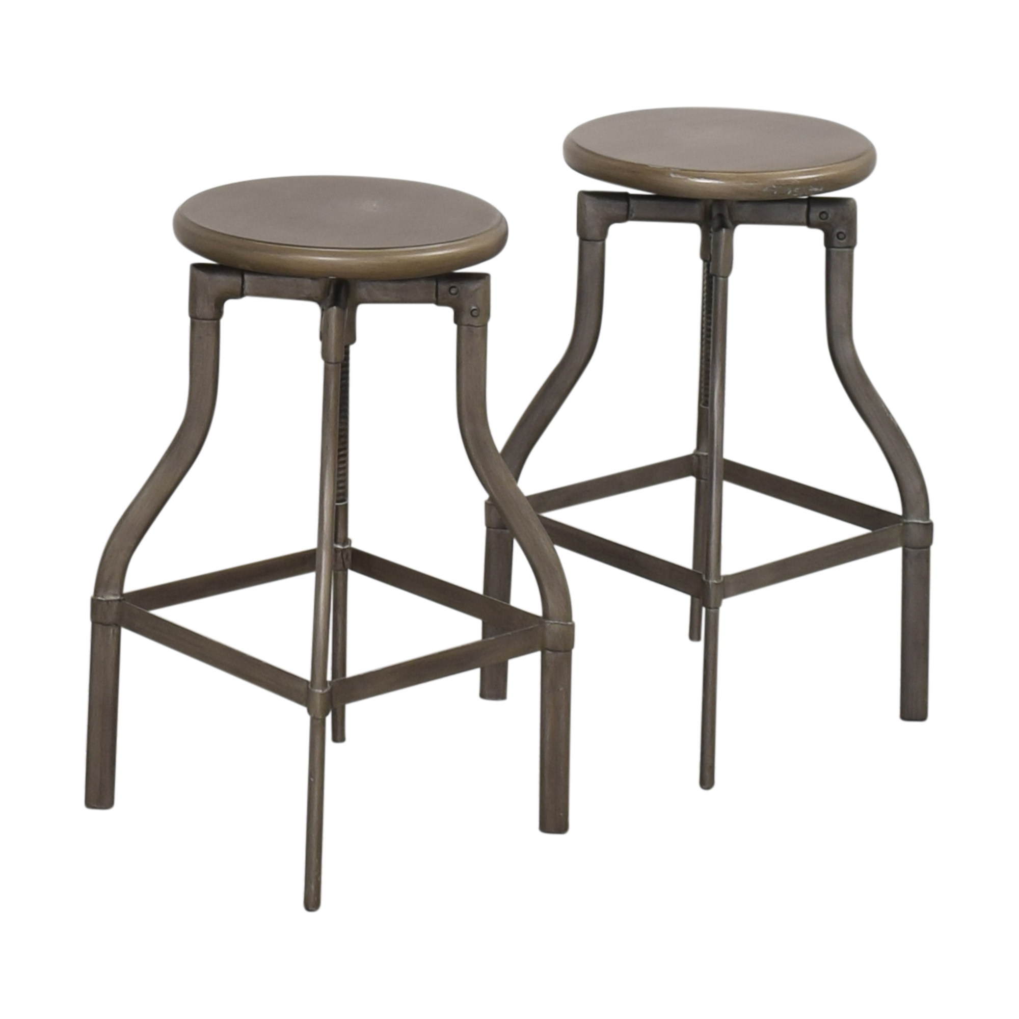 shop Crate & Barrel Turner Adjustable Stools Crate & Barrel Stools