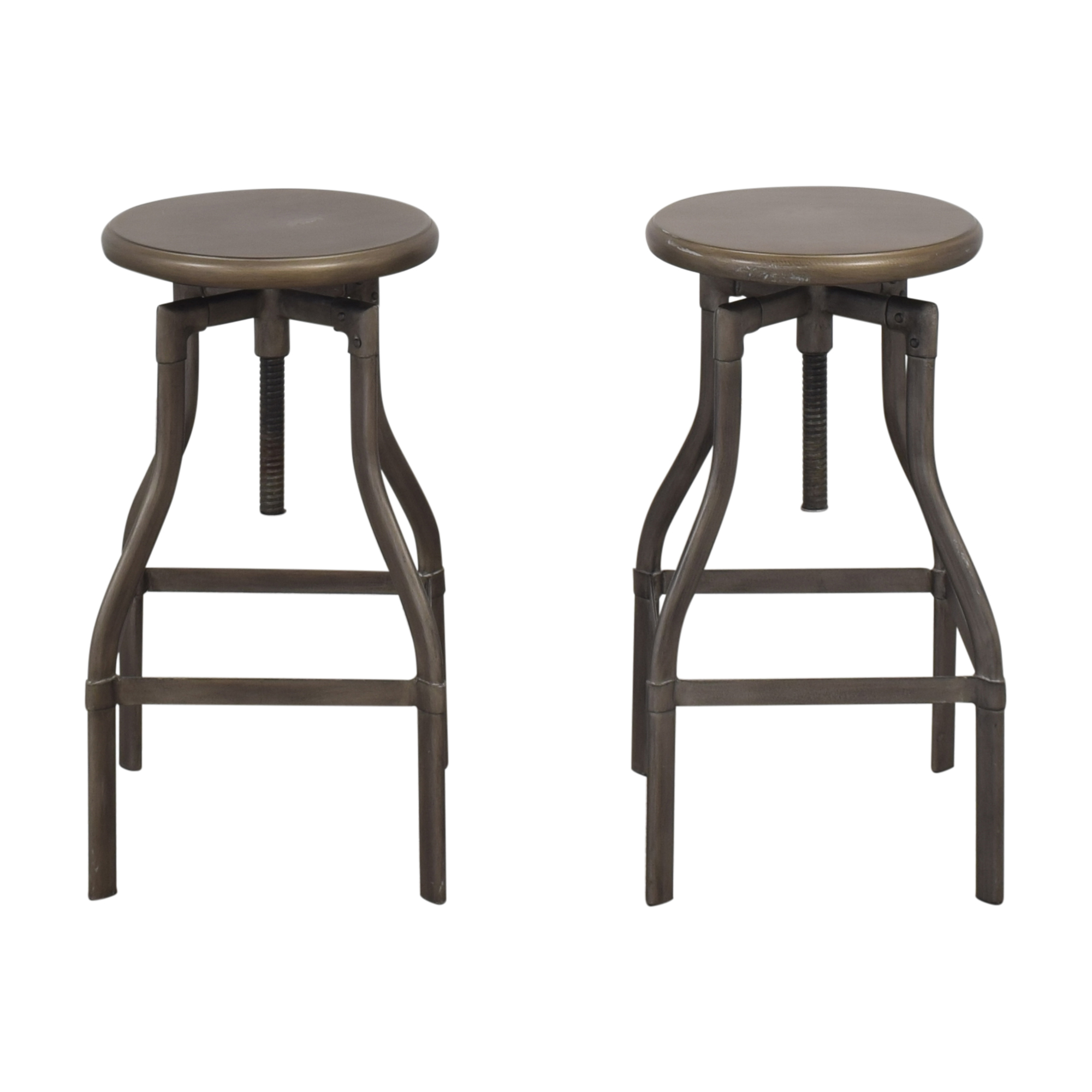 Crate & Barrel Turner Adjustable Stools Crate & Barrel