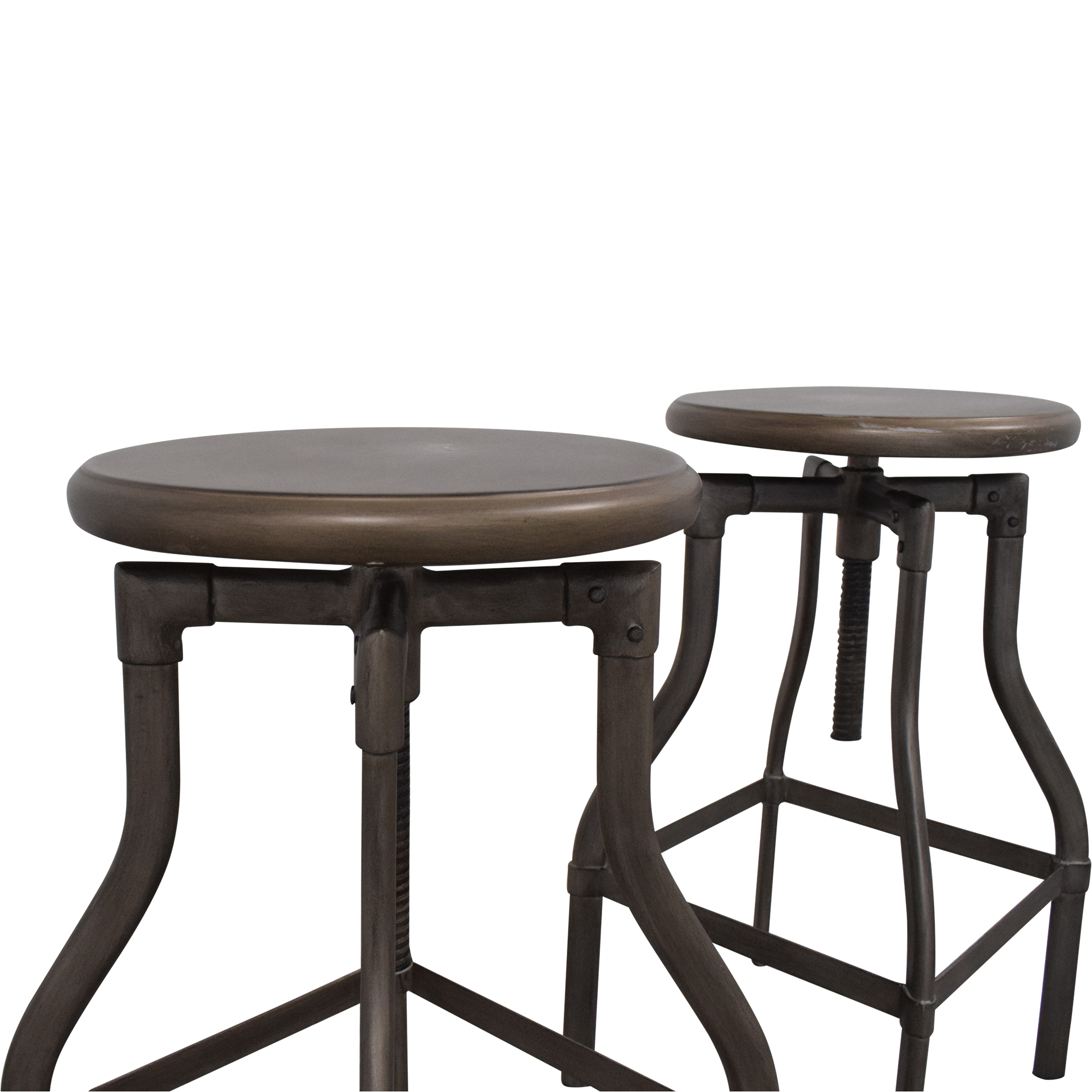 Crate & Barrel Turner Adjustable Stools sale