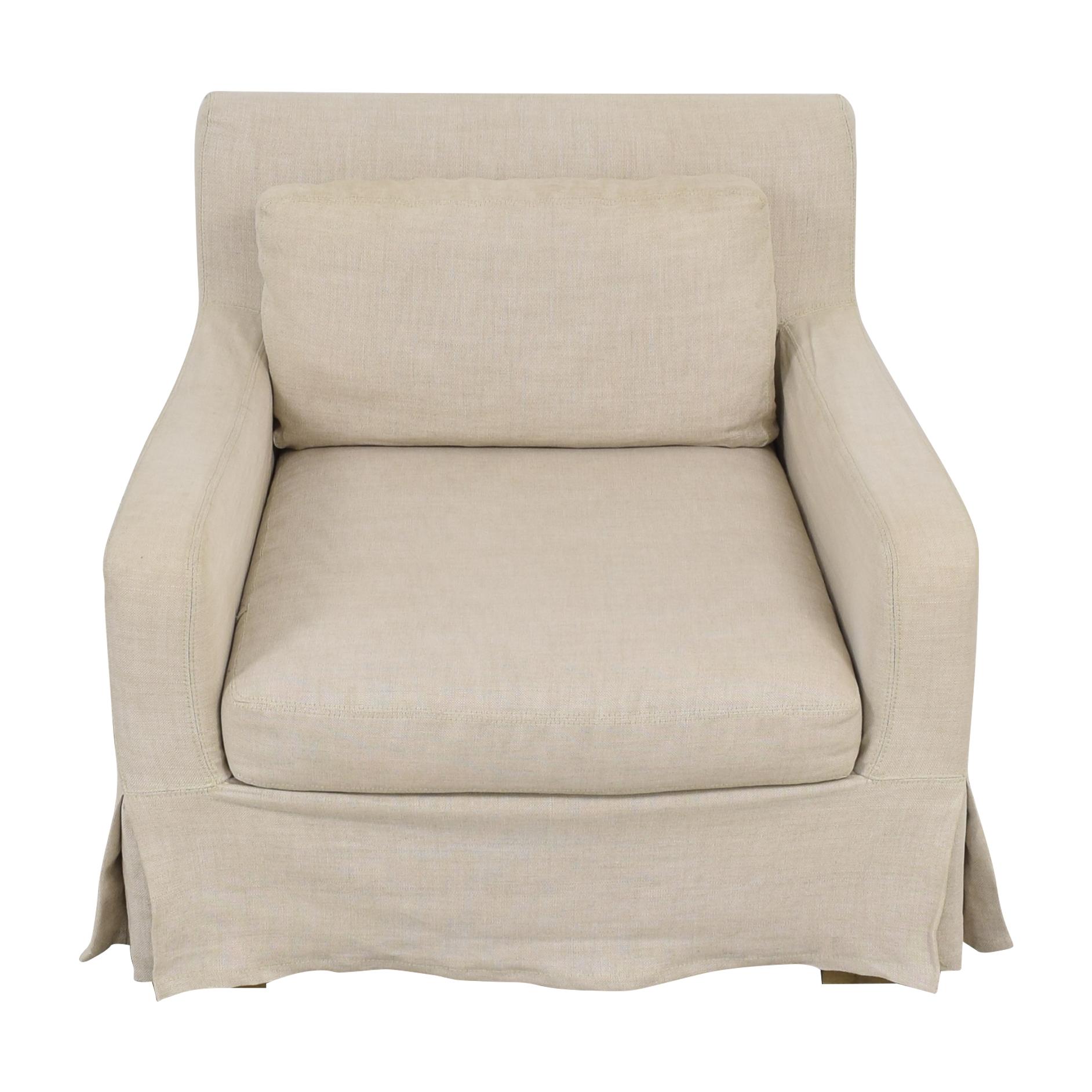 shop Restoration Hardware Belgian Slope Arm Slipcovered Chair Restoration Hardware Chairs