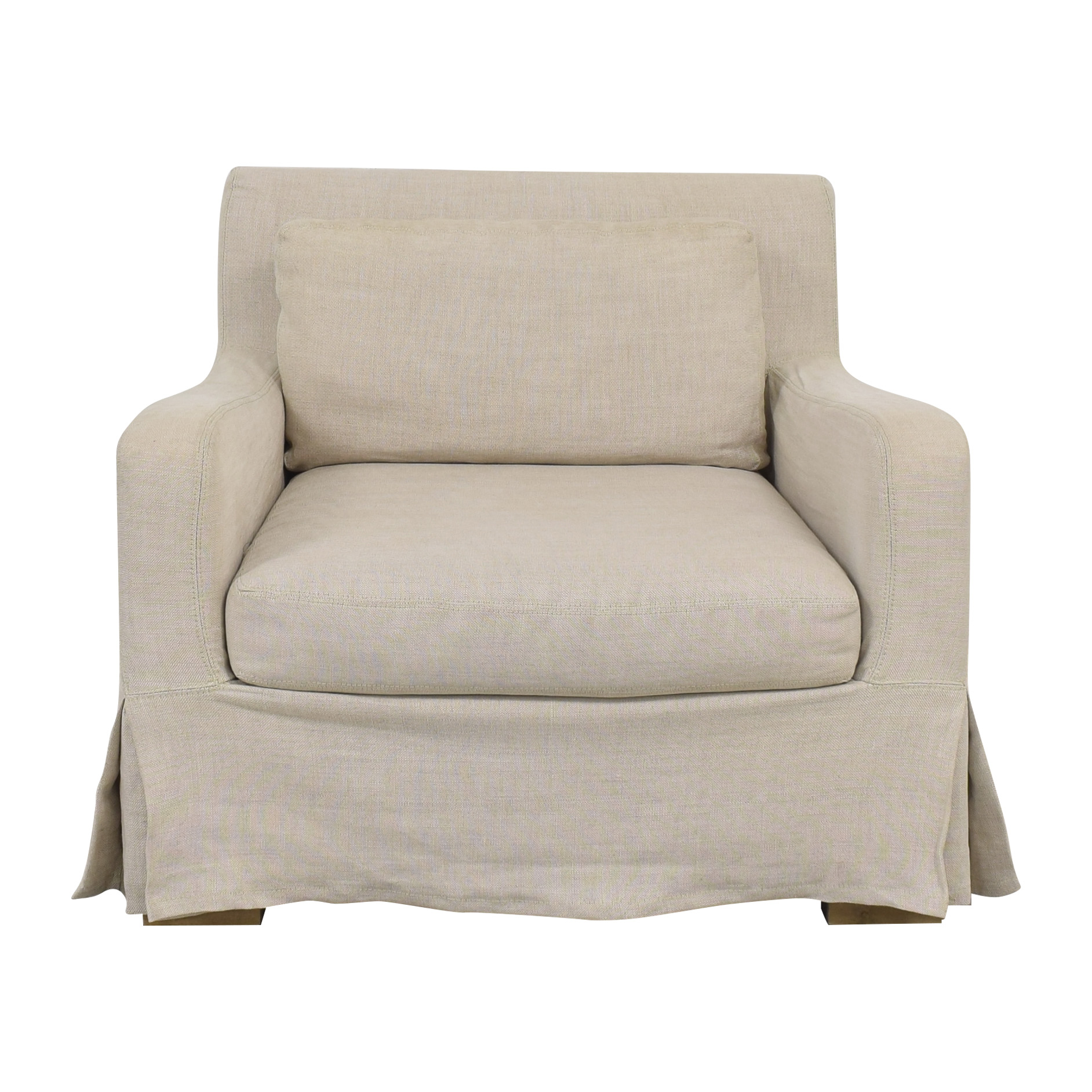 Restoration Hardware Restoration Hardware Belgian Slope Arm Slipcovered Chair pa