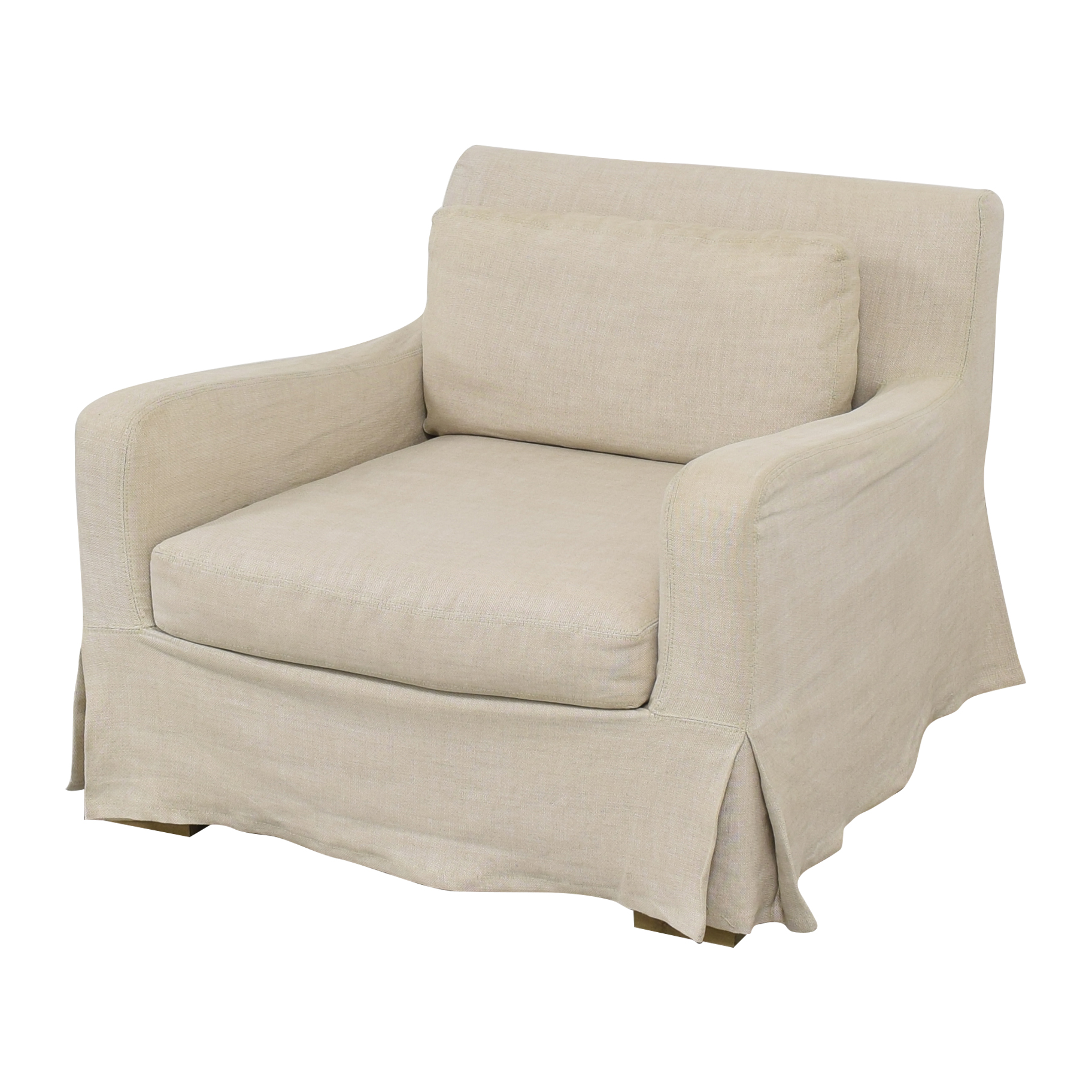 Restoration Hardware Restoration Hardware Belgian Slope Arm Slipcovered Chair Chairs