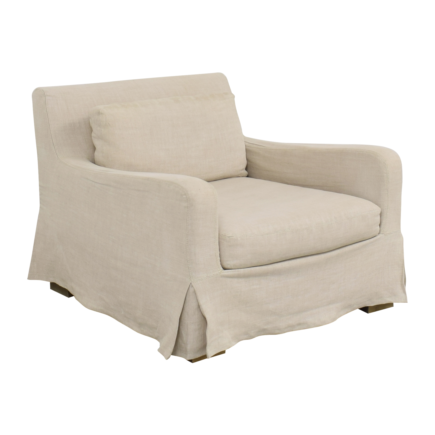 buy Restoration Hardware Belgian Slope Arm Slipcovered Chair Restoration Hardware Accent Chairs