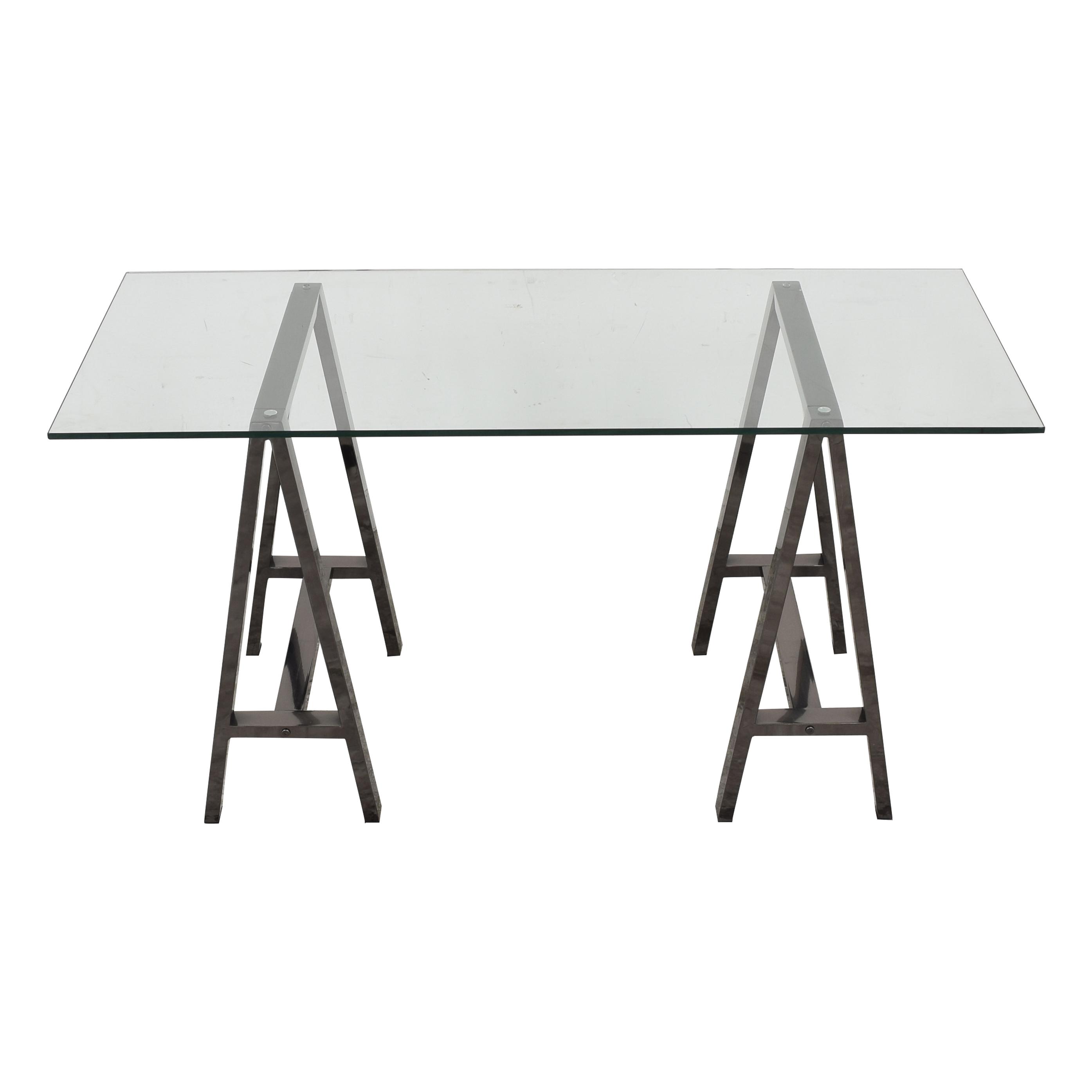 shop West Elm Cross-Base Desk West Elm Tables