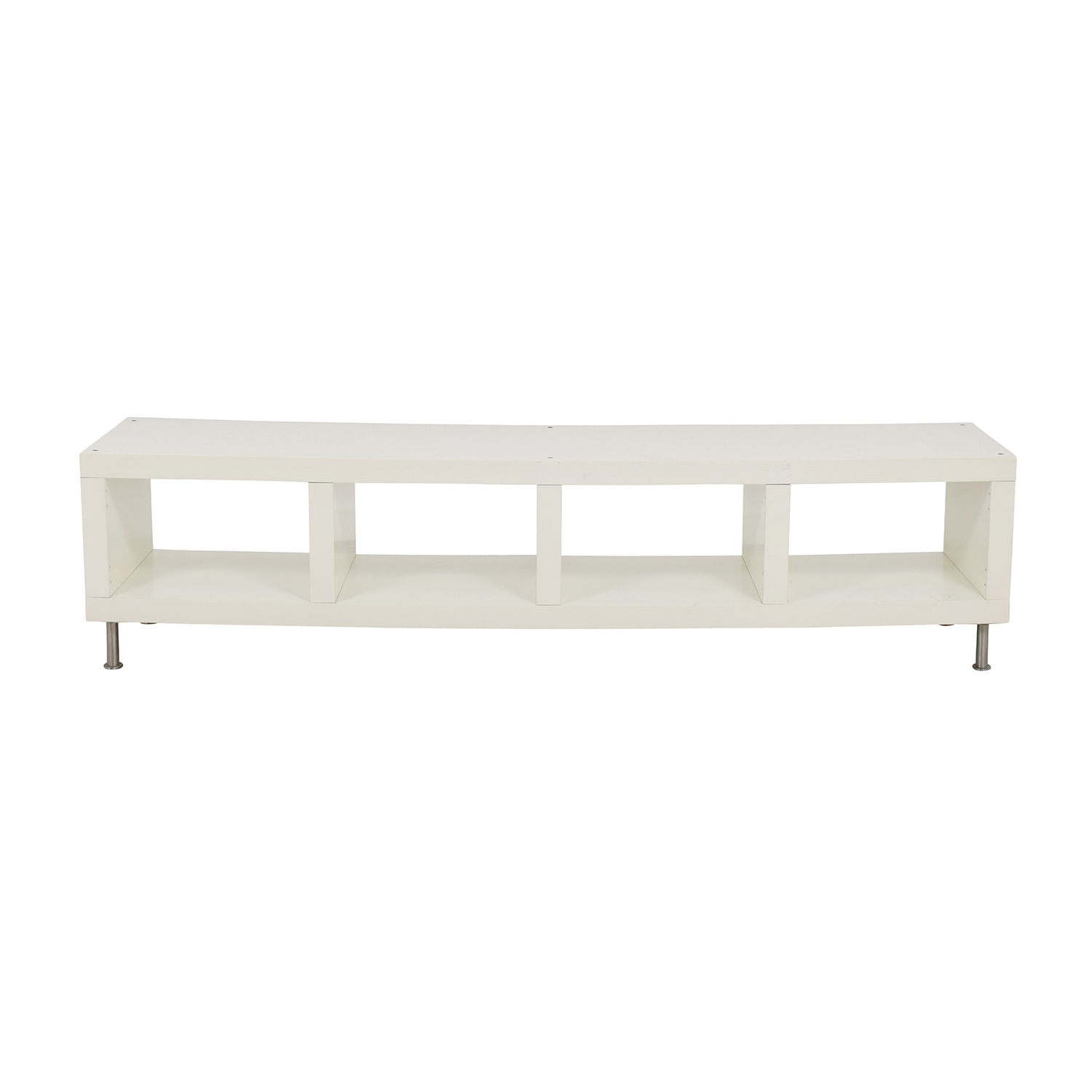 White Media Unit with Cubical Storage IKEA