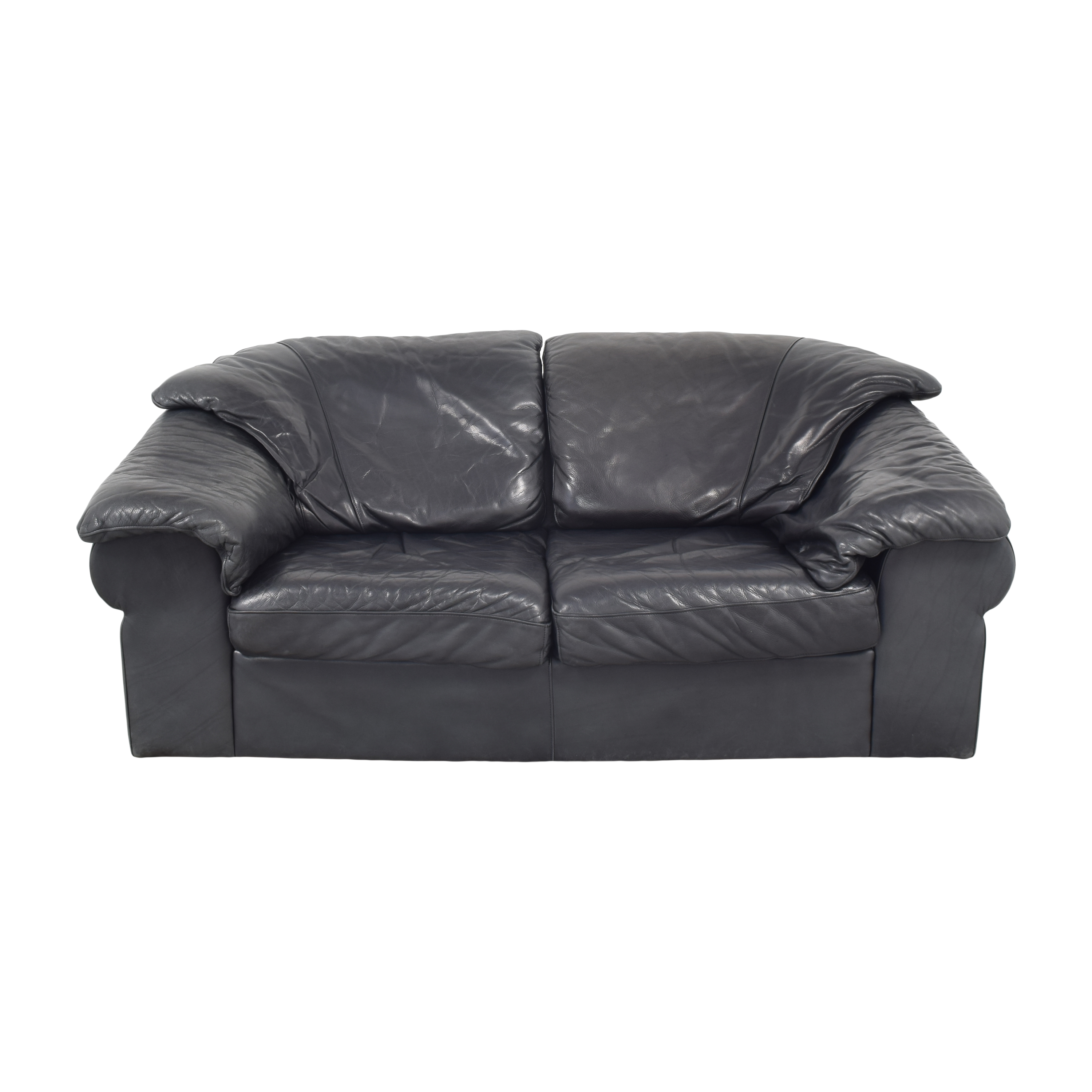 Leather Center Leather Center Flat Arm Loveseat Loveseats