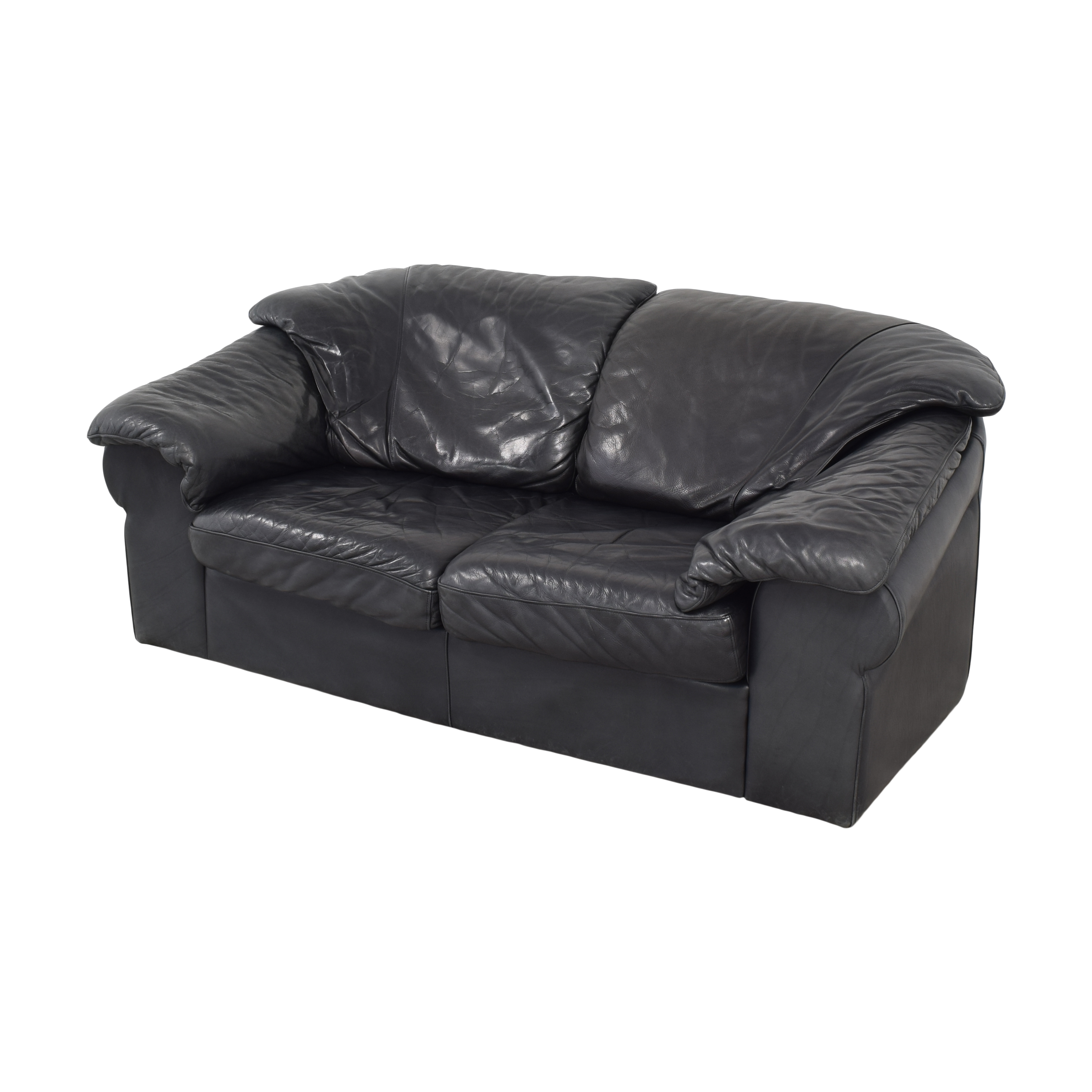 Leather Center Leather Center Flat Arm Loveseat second hand