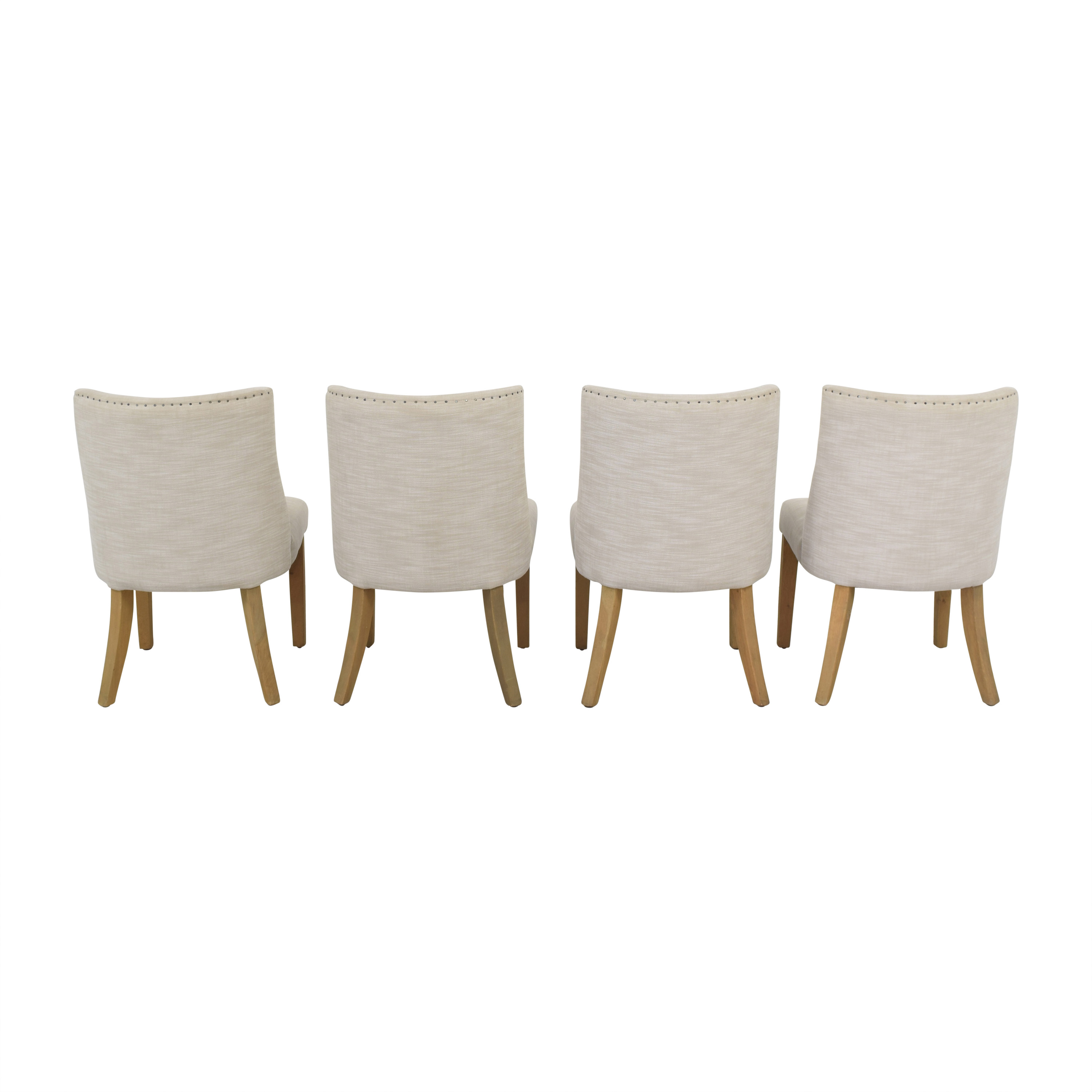 Restoration Hardware 1940s French Barrelback Fabric Side Chairs / Chairs