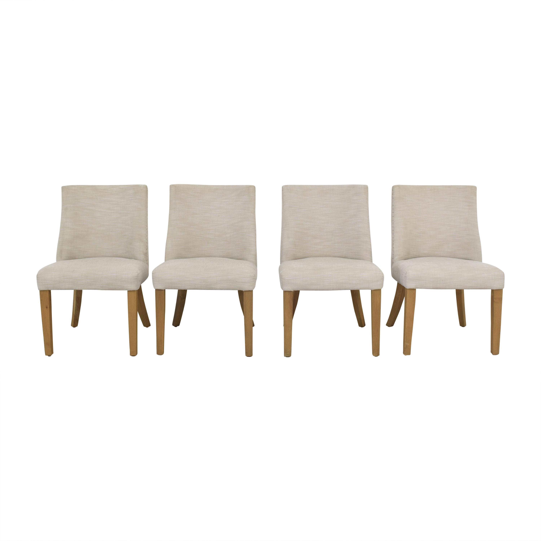 shop Restoration Hardware 1940s French Barrelback Fabric Side Chairs Restoration Hardware Dining Chairs