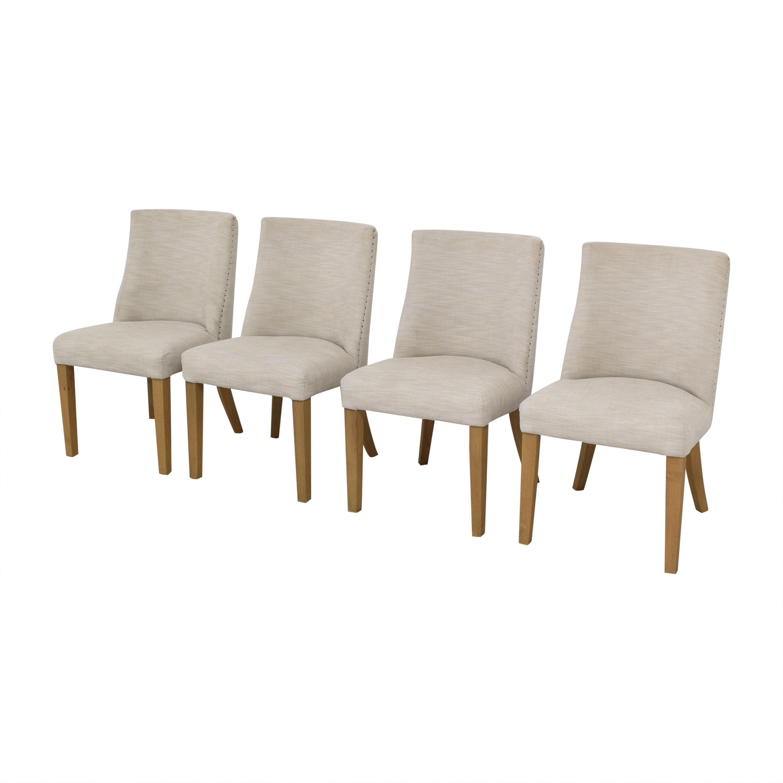 Restoration Hardware Restoration Hardware 1940s French Barrelback Fabric Side Chairs nyc