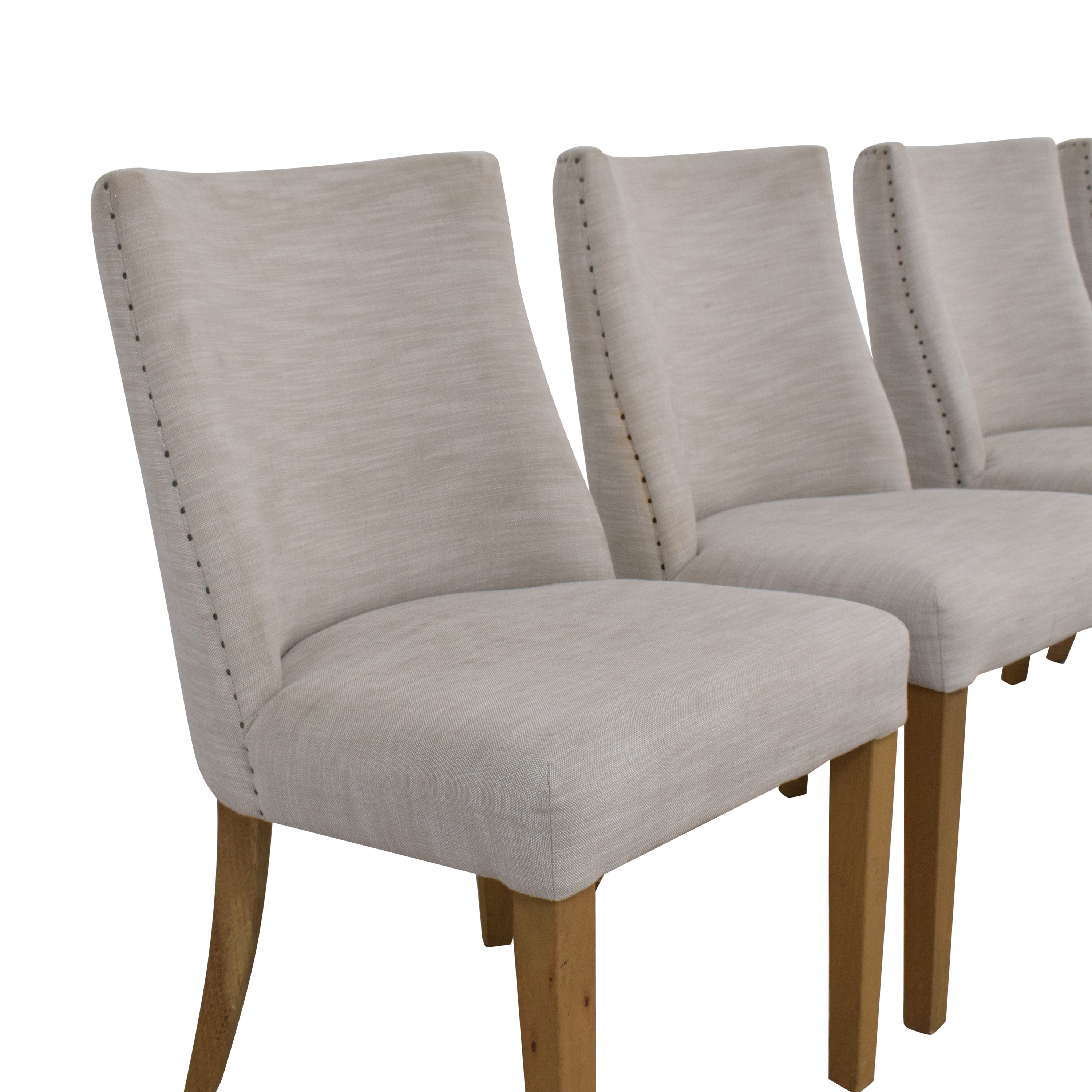 shop Restoration Hardware Restoration Hardware 1940s French Barrelback Fabric Side Chairs online