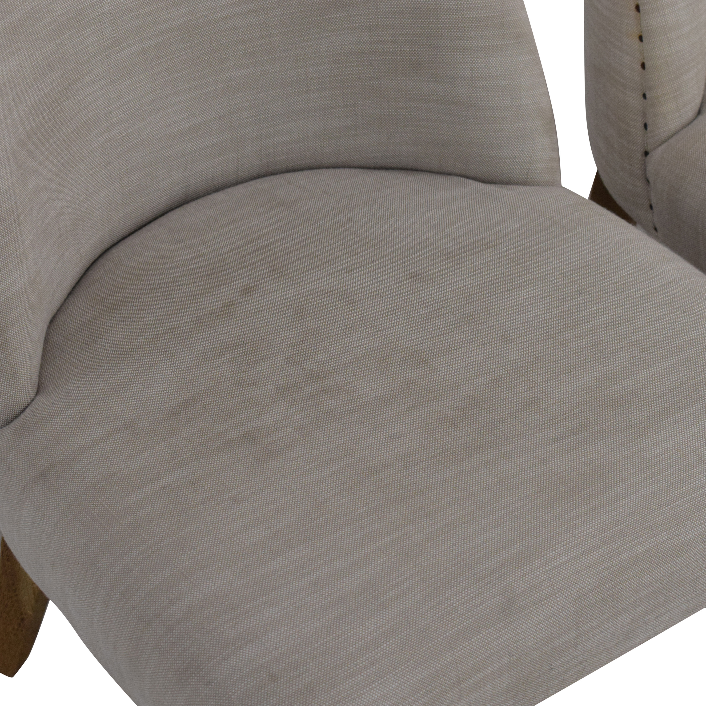 buy Restoration Hardware 1940s French Barrelback Fabric Side Chairs Restoration Hardware
