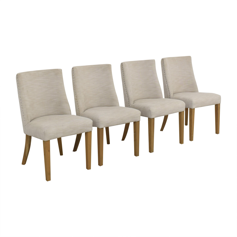 Restoration Hardware Restoration Hardware 1940s French Barrelback Fabric Side Chairs ma