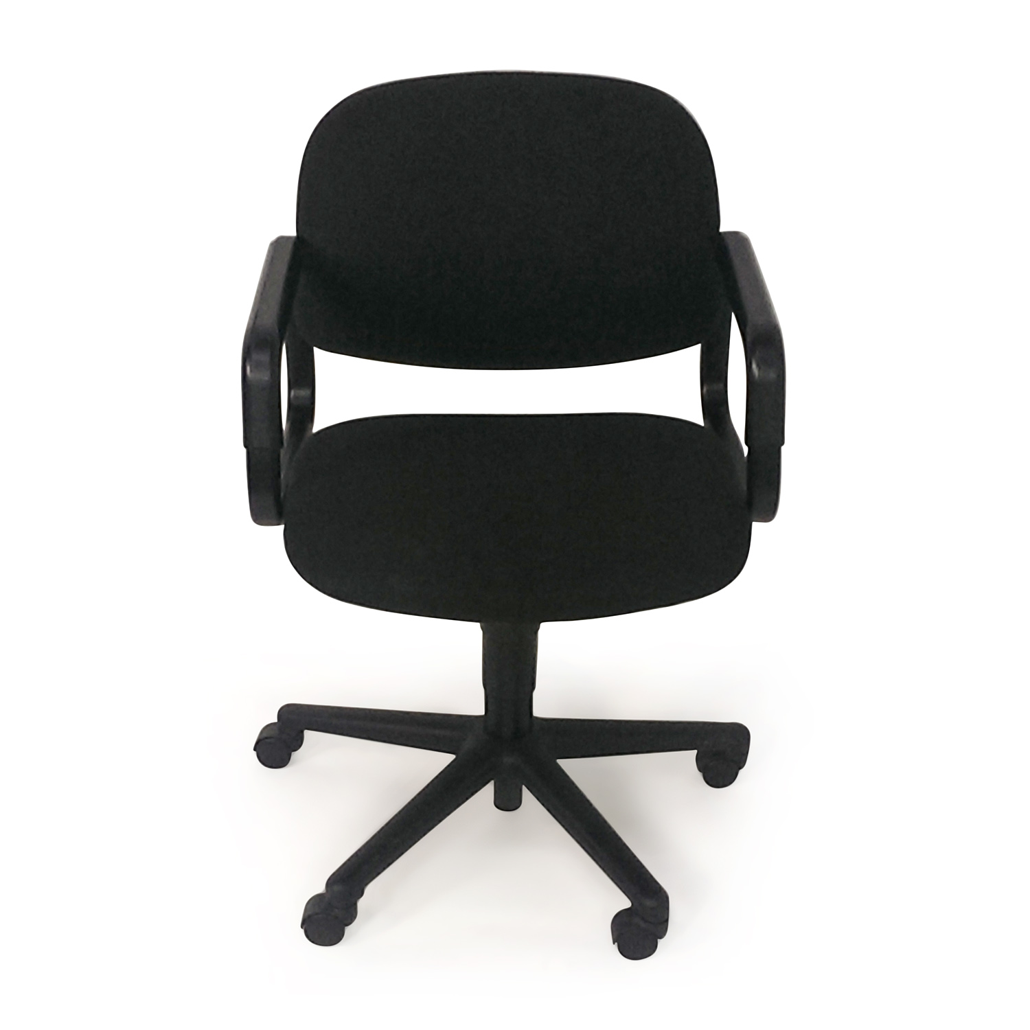 54% OFF Black Leather Conference Room Chair Chairs
