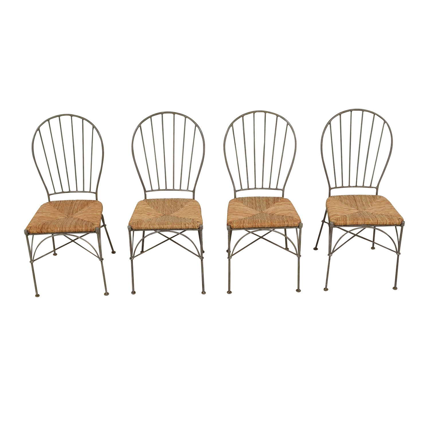 Pier 1 Pier 1 Woven Seat Dining Chairs for sale
