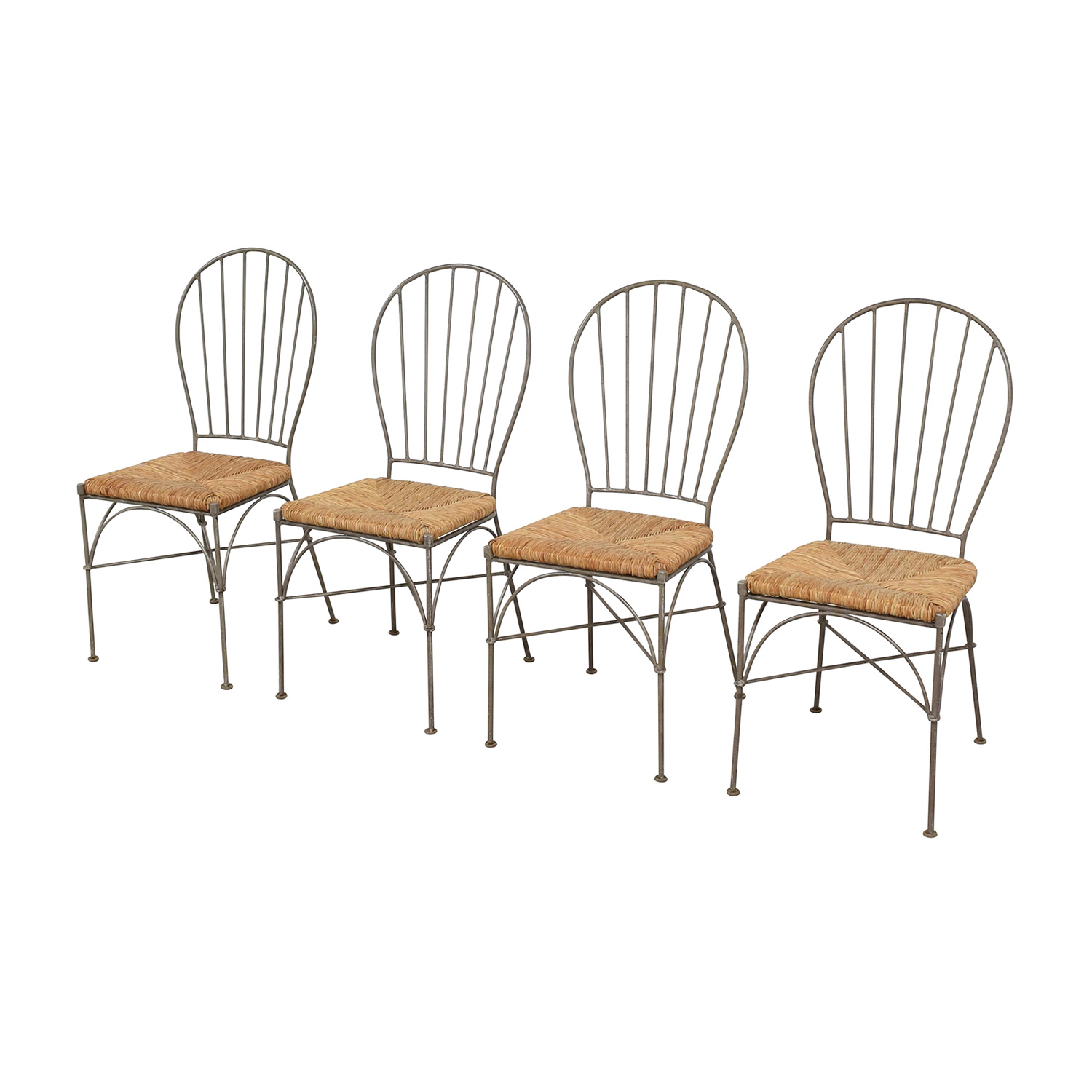 Pier 1 Woven Seat Dining Chairs / Dining Chairs