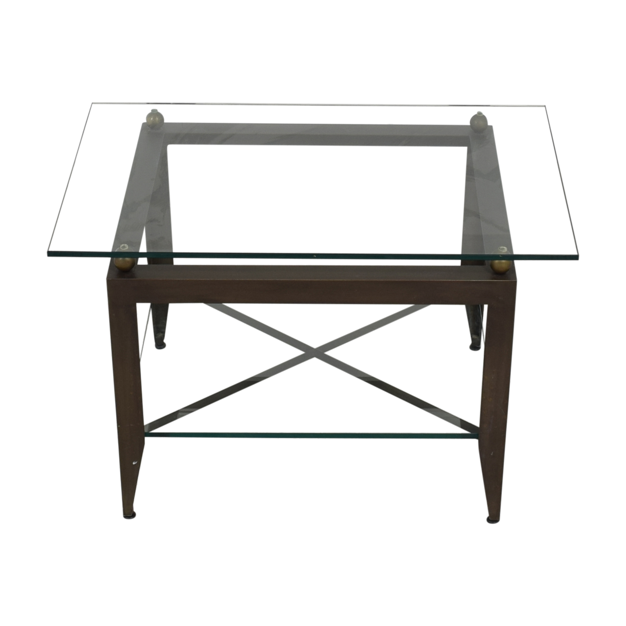 Modern Glass End Table second hand