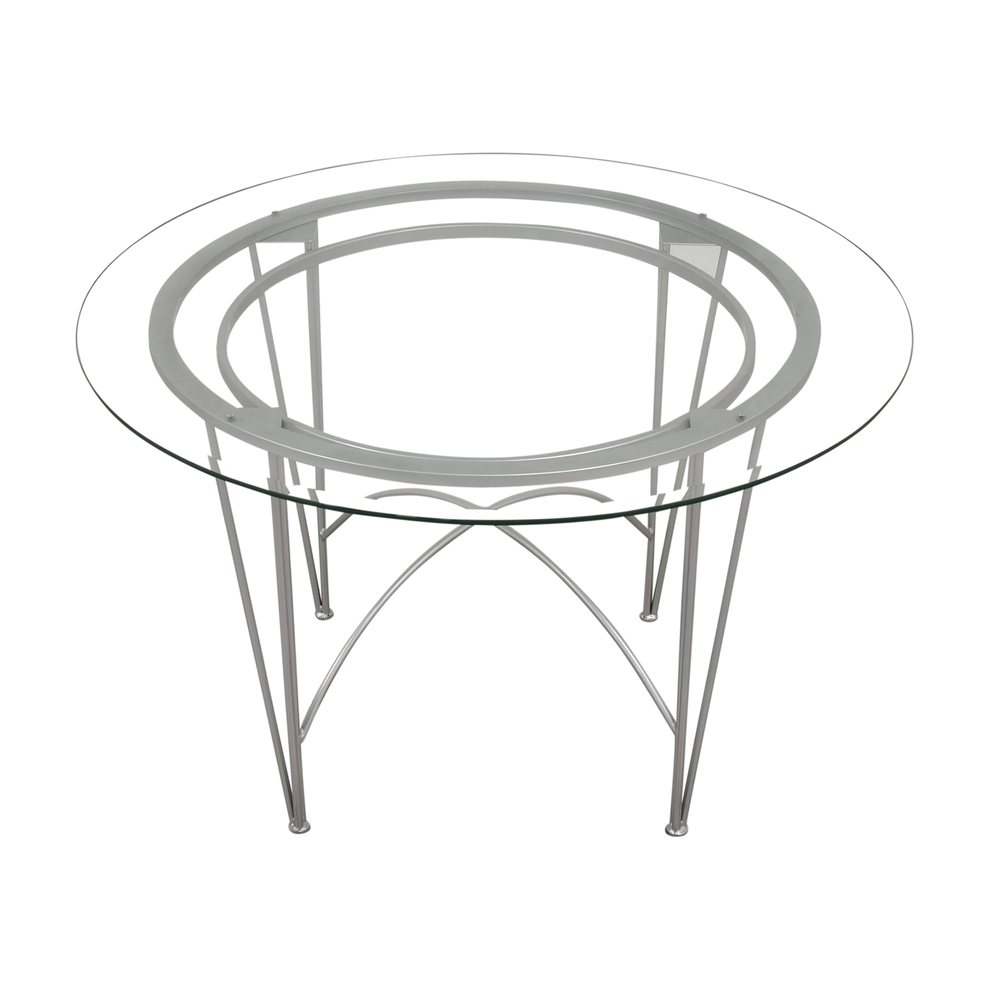 Round Glass Top Dining Table with Hairpin Legs dimensions