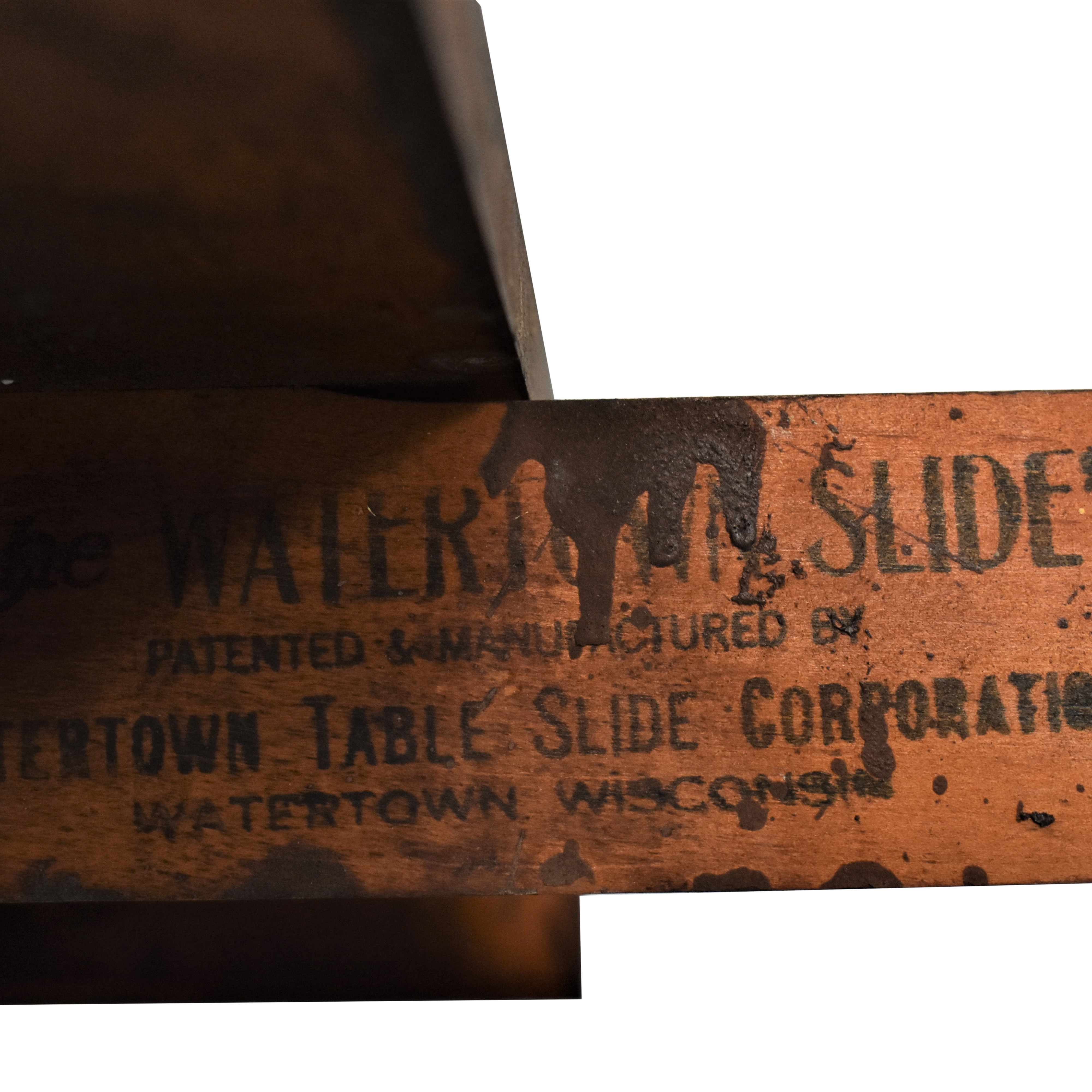 Watertown Table Company Slide Table second hand