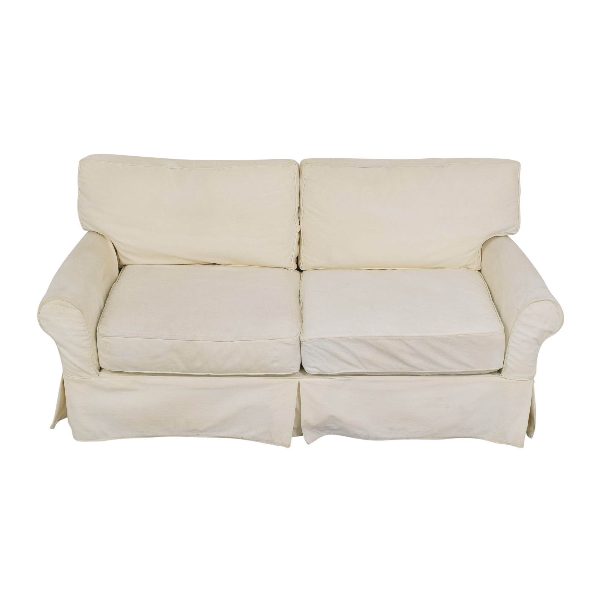 Crate & Barrel Crate & Barrel Bayside Apartment Sofa off white
