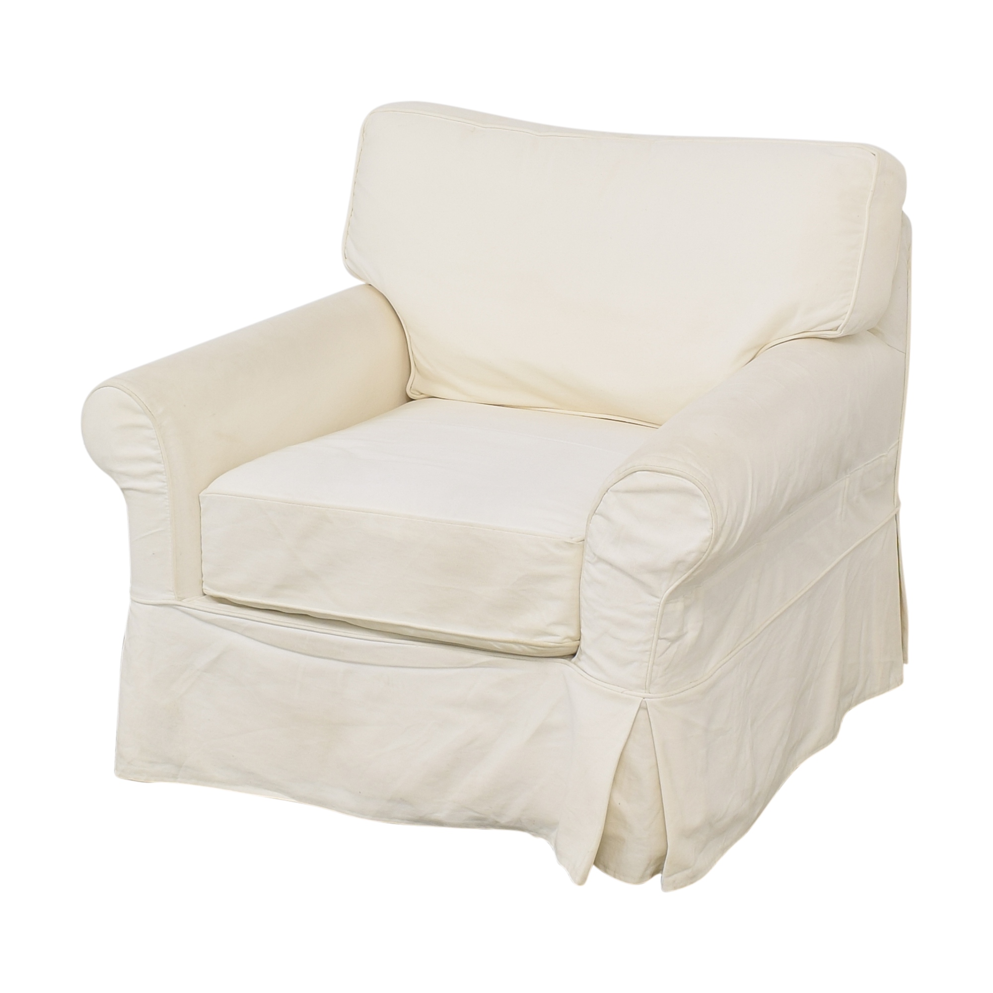 Crate & Barrel Crate & Barrel Slipcovered Arm Chair with Ottoman coupon