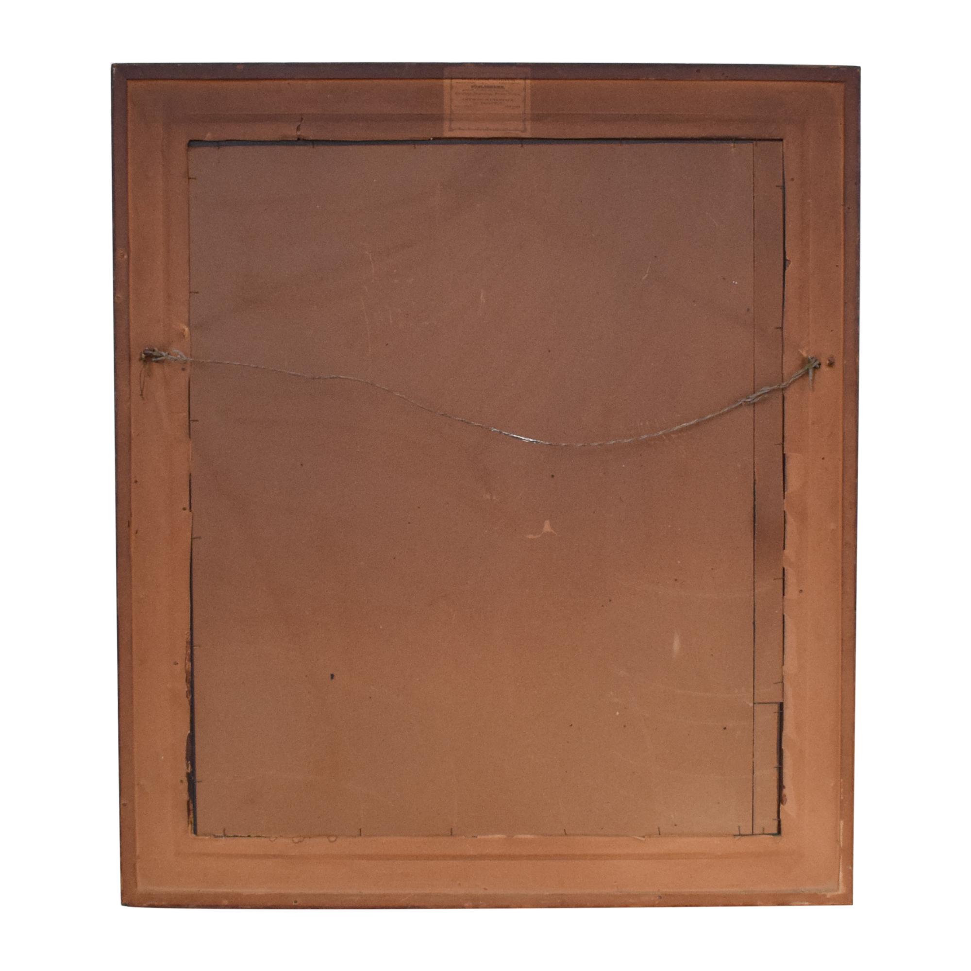 shop Vintage William Schaus Framed Mirror  Decor