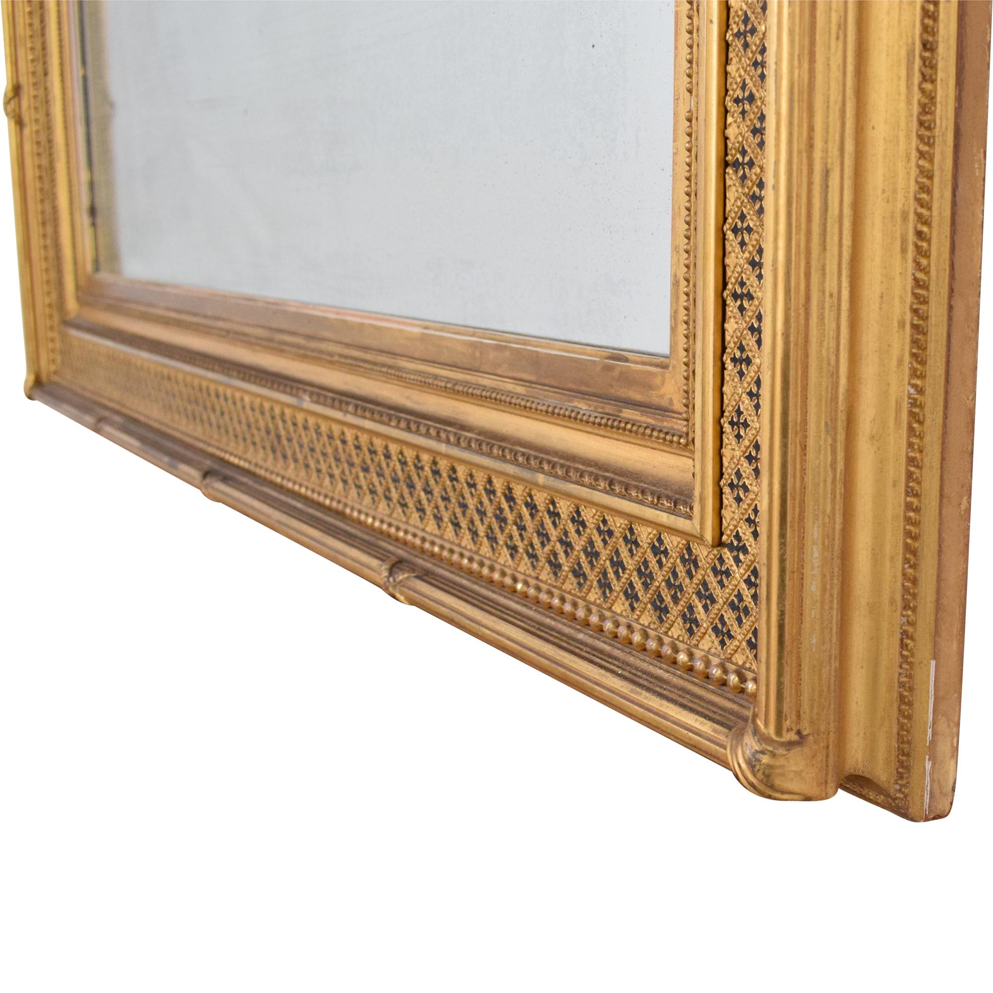 Vintage William Schaus Framed Mirror dimensions