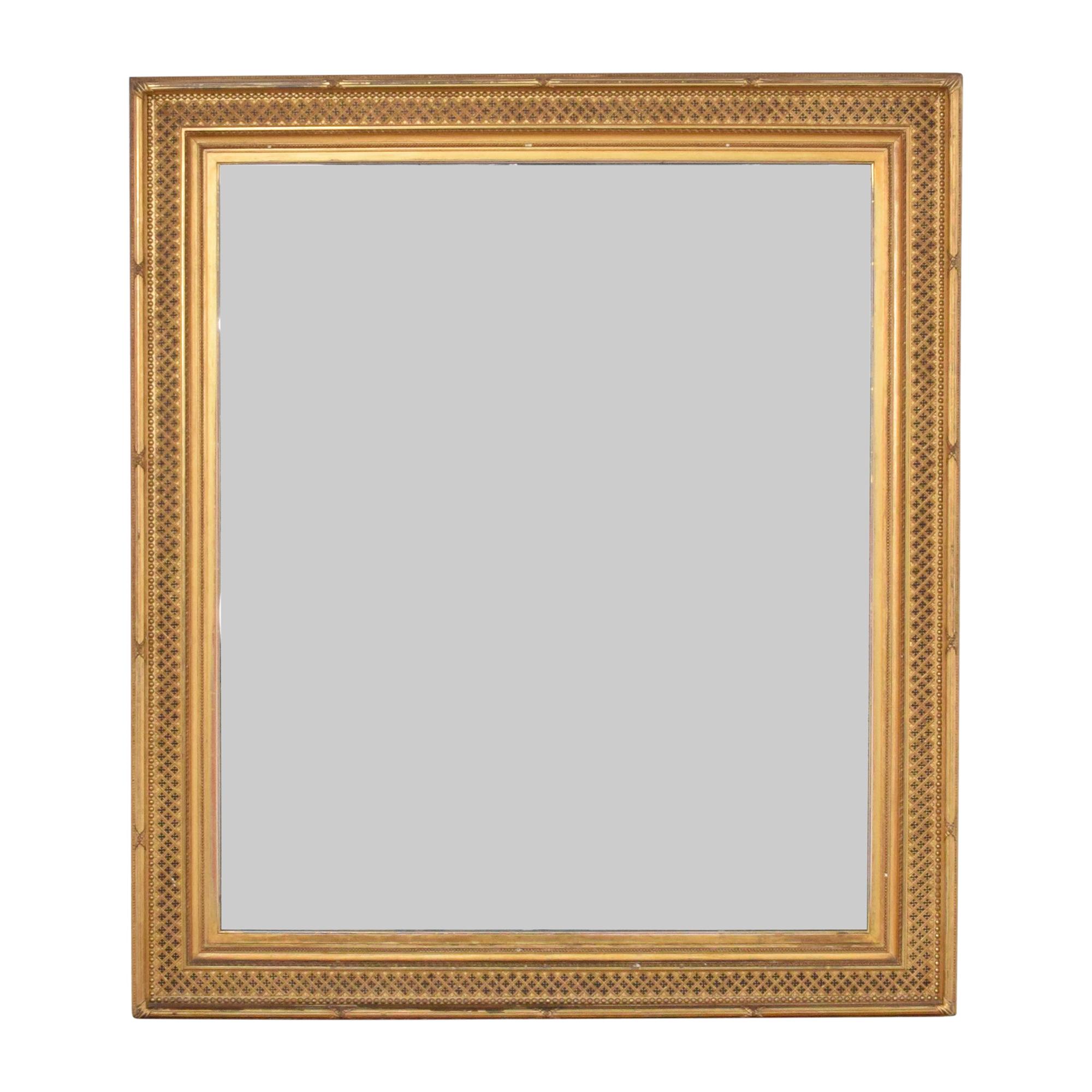 Vintage William Schaus Framed Mirror / Decor