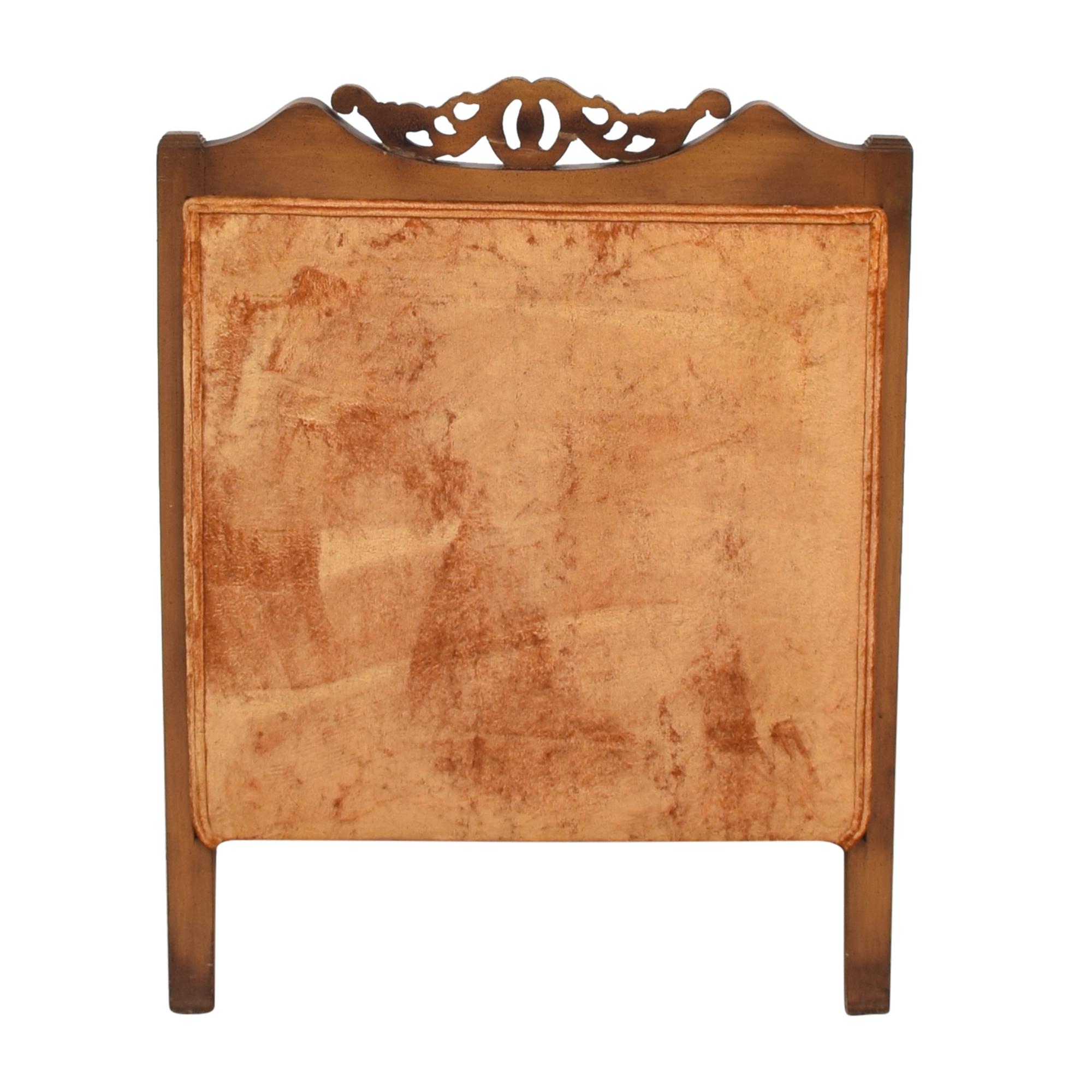 S Miller Vintage Upholstered Armchair S. Miller