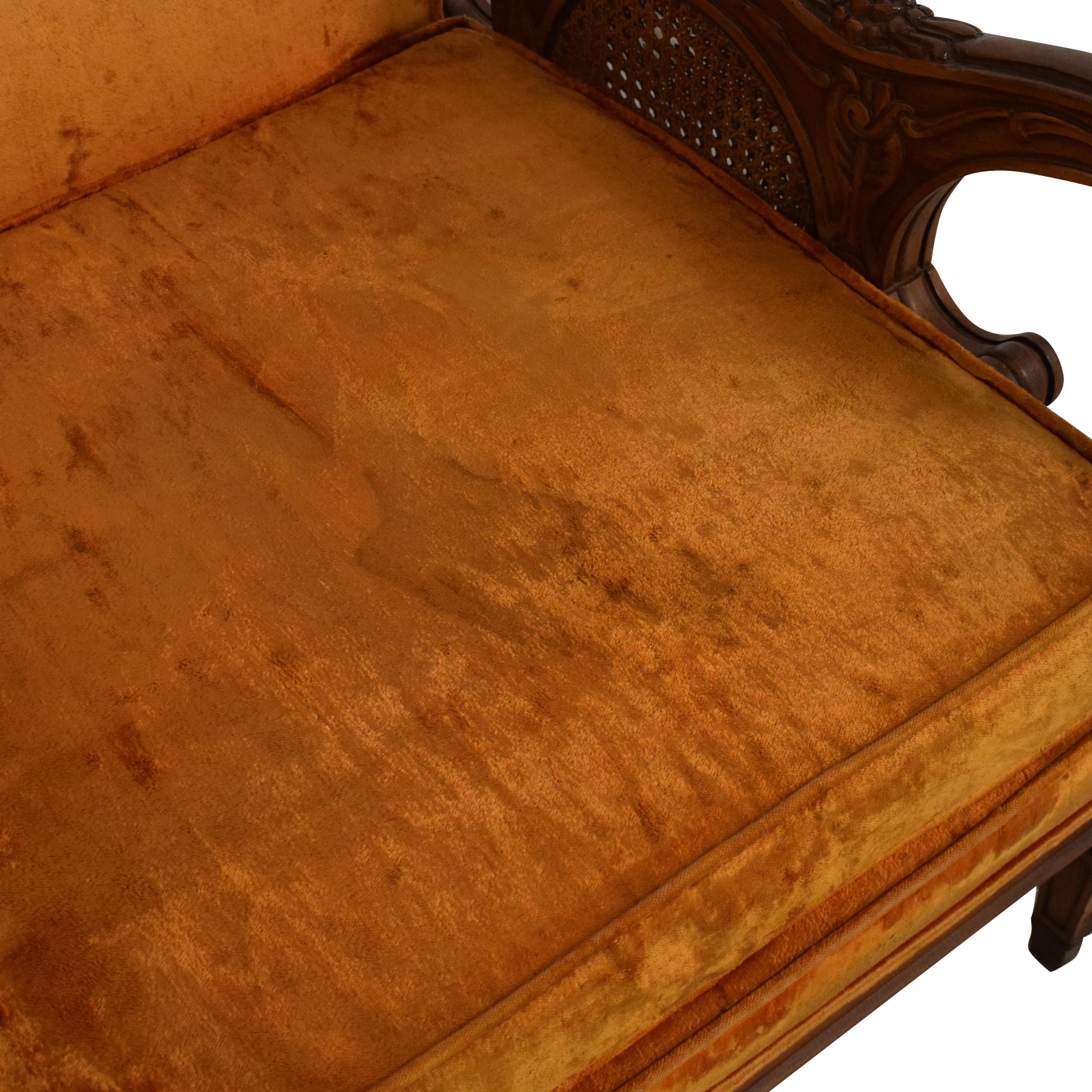 S. Miller S Miller Vintage Upholstered Armchair orange and brown