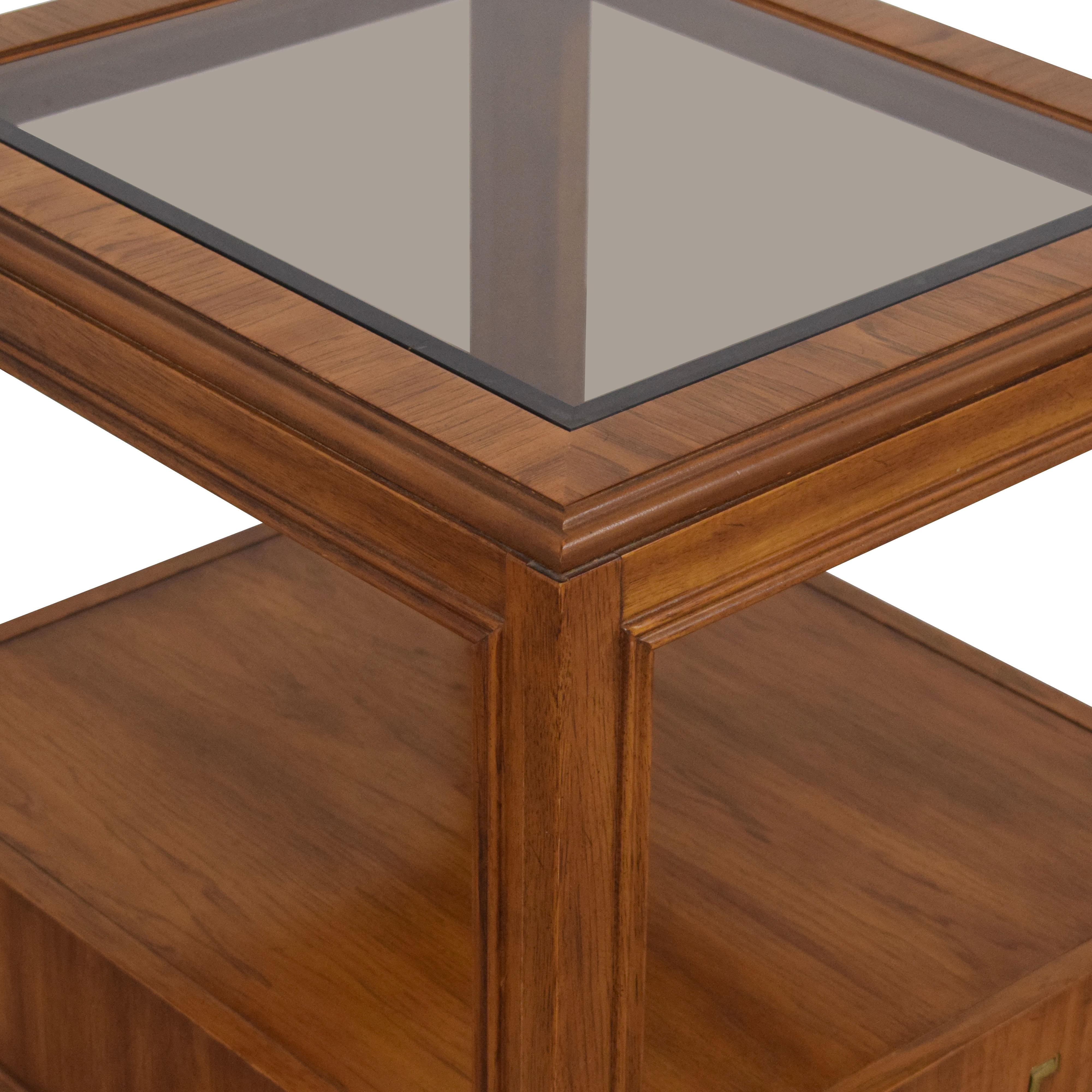 Drexel Heritage Drexel Heritage Glass Top Side Table on sale