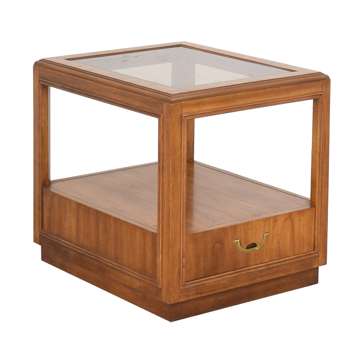 Drexel Heritage Glass Top Side Table sale