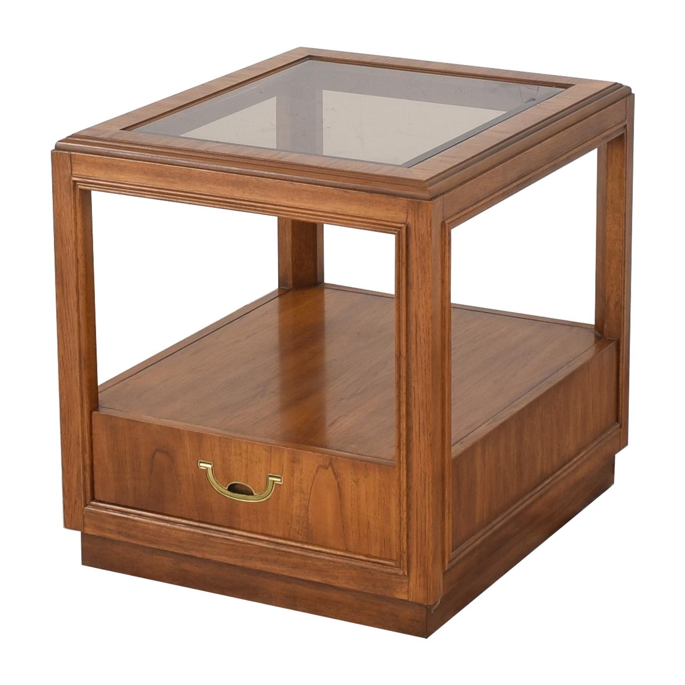 Drexel Heritage Drexel Heritage Glass Top Side Table discount