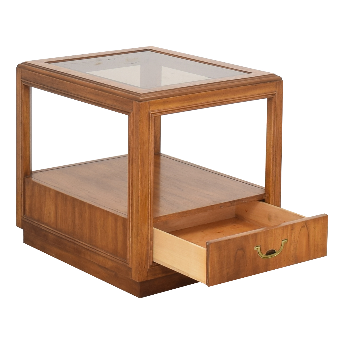 Drexel Heritage Drexel Heritage Glass Top Side Table ma