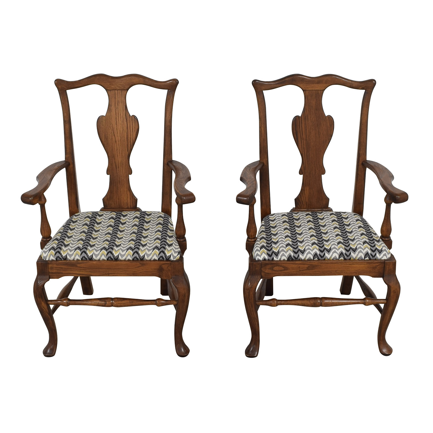 buy Ethan Allen Queen Anne Dining Arm Chairs Ethan Allen