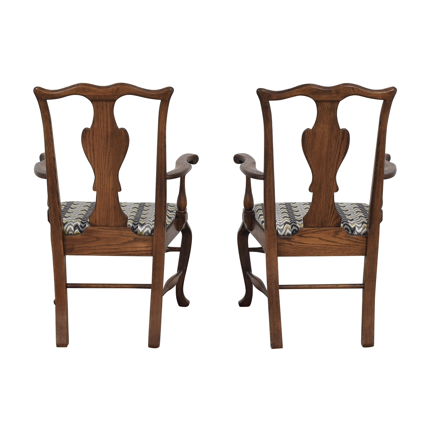 Ethan Allen Queen Anne Dining Arm Chairs / Dining Chairs