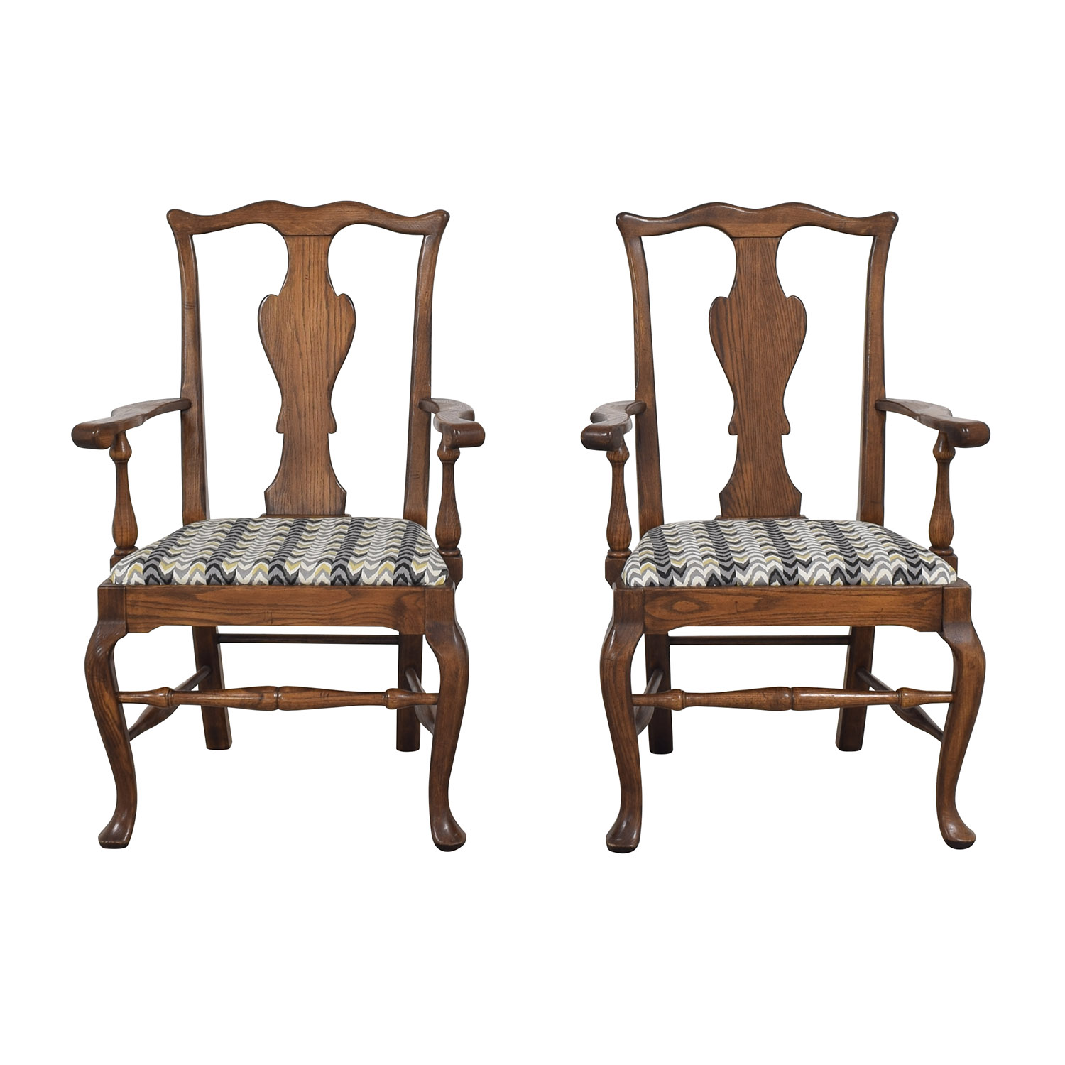 buy Ethan Allen Ethan Allen Queen Anne Dining Arm Chairs online