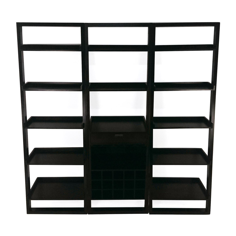 Crate and Barrel Crate and Barrel Modular Leaning Bookshelf Dark Brown