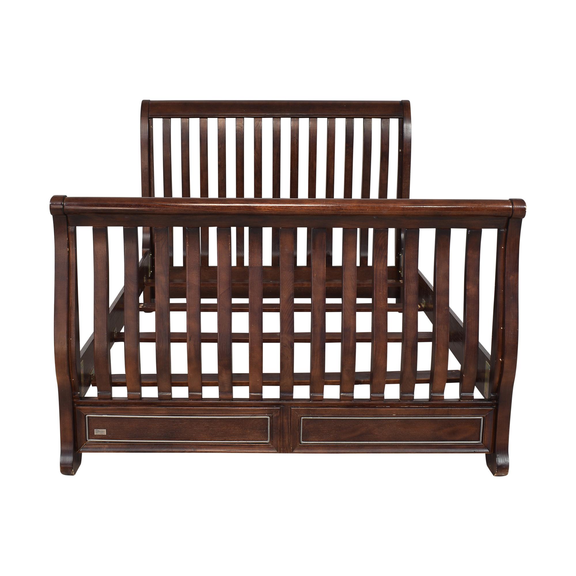buy Natart Juvenile Full Sleigh Bed Natart Bed Frames