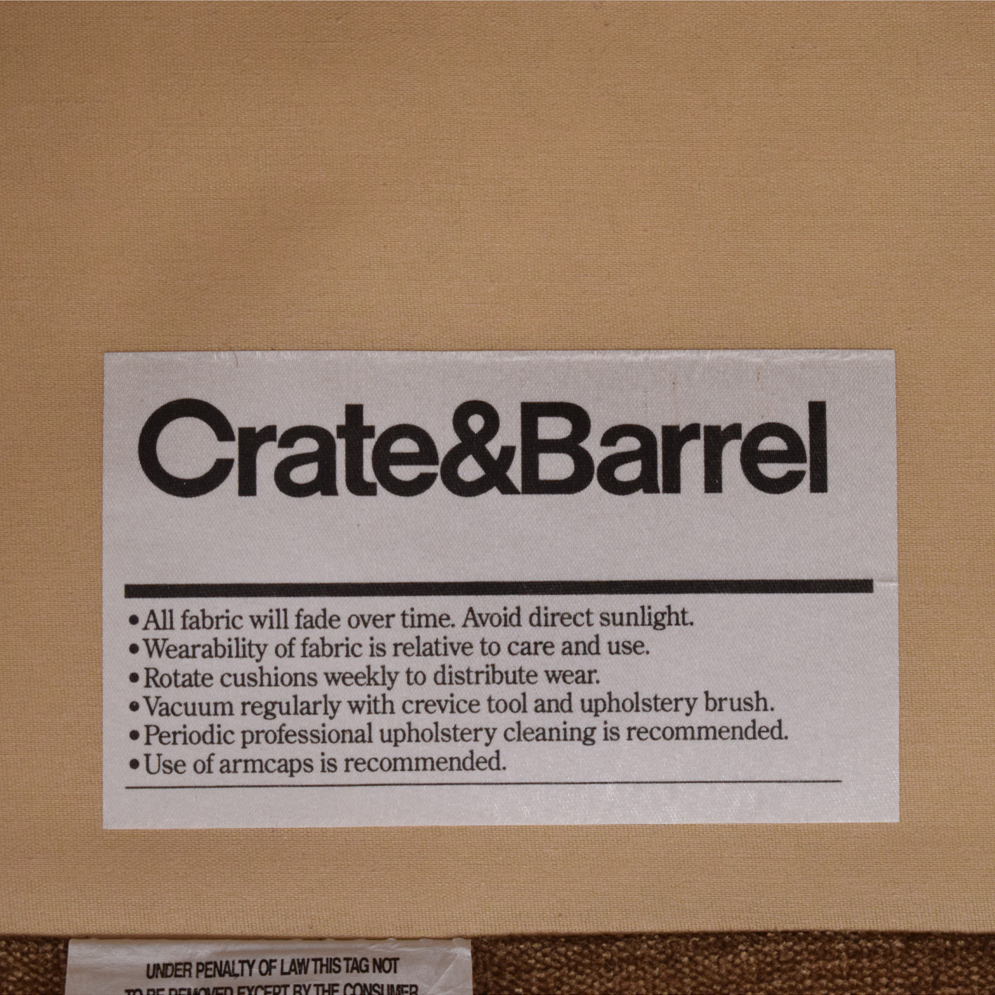 Crate & Barrel Crate & Barrel Rolled Arm Chair dimensions