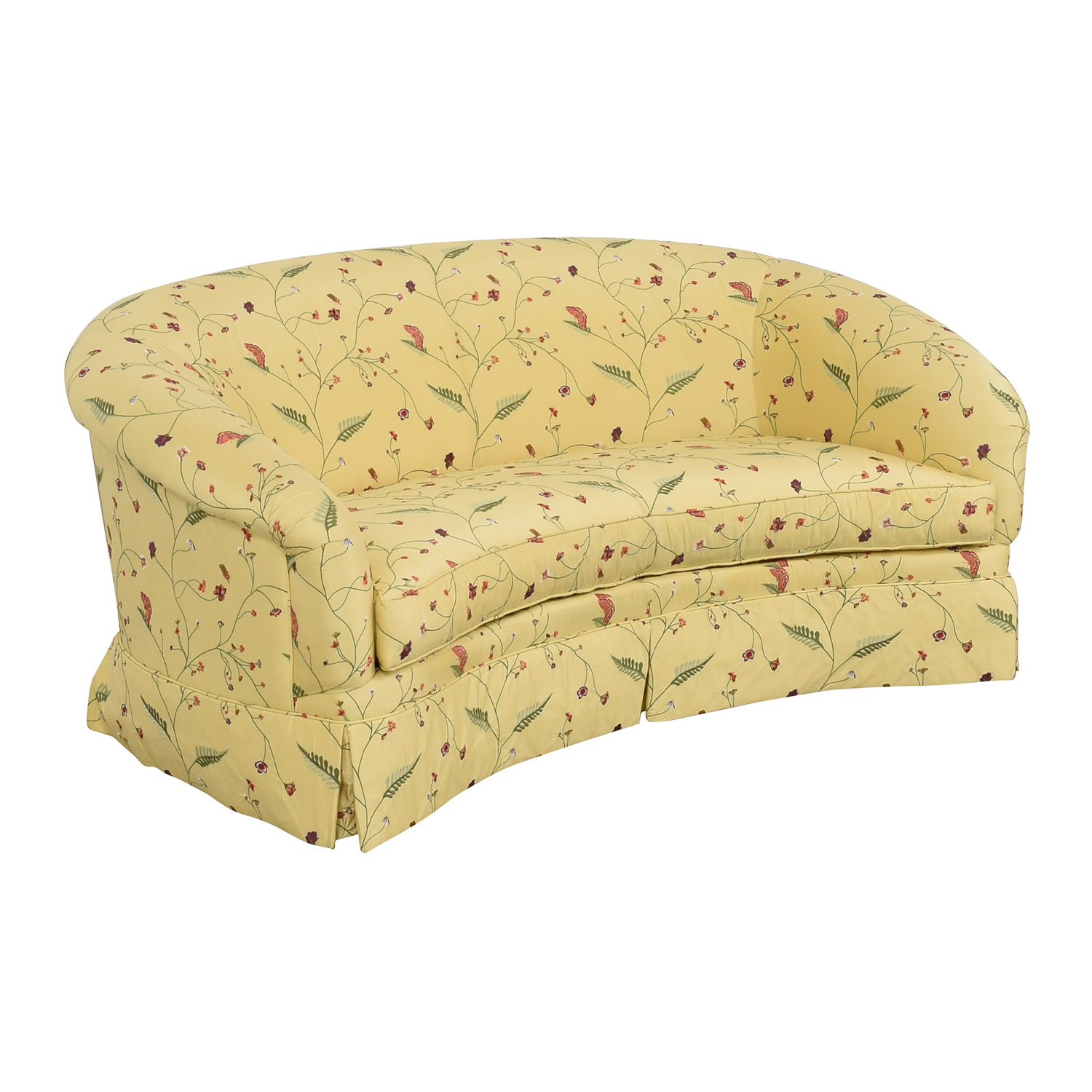 Drexel Heritage Drexel Heritage Chinoiserie Curved Sofa dimensions