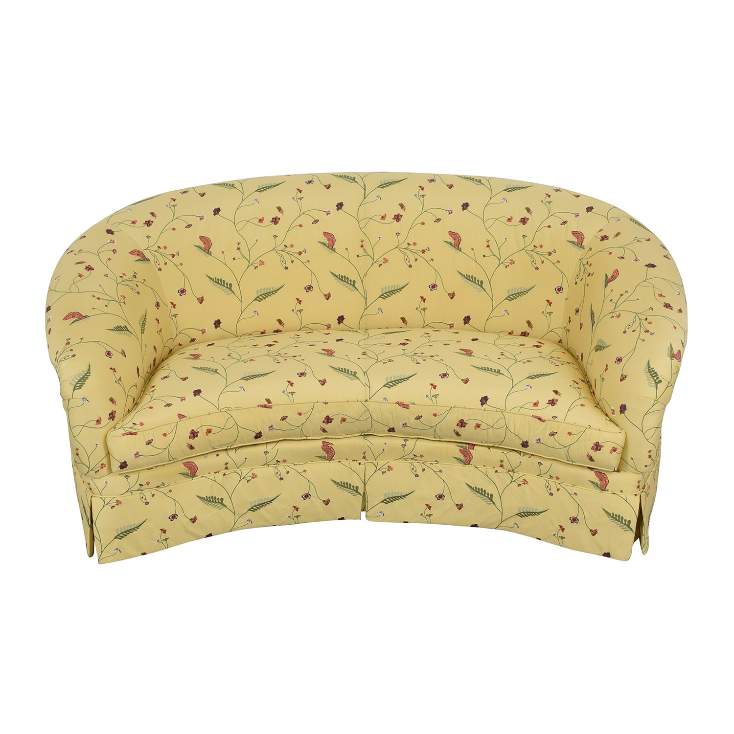 Drexel Heritage Chinoiserie Curved Sofa sale