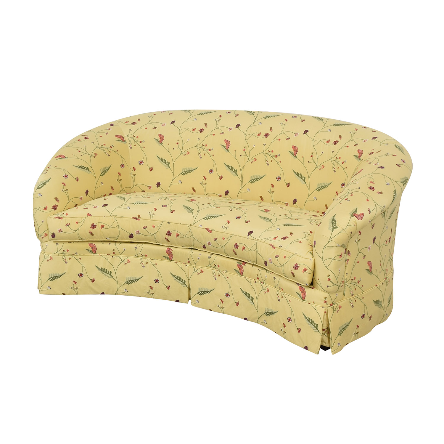 Drexel Heritage Chinoiserie Curved Sofa / Sofas