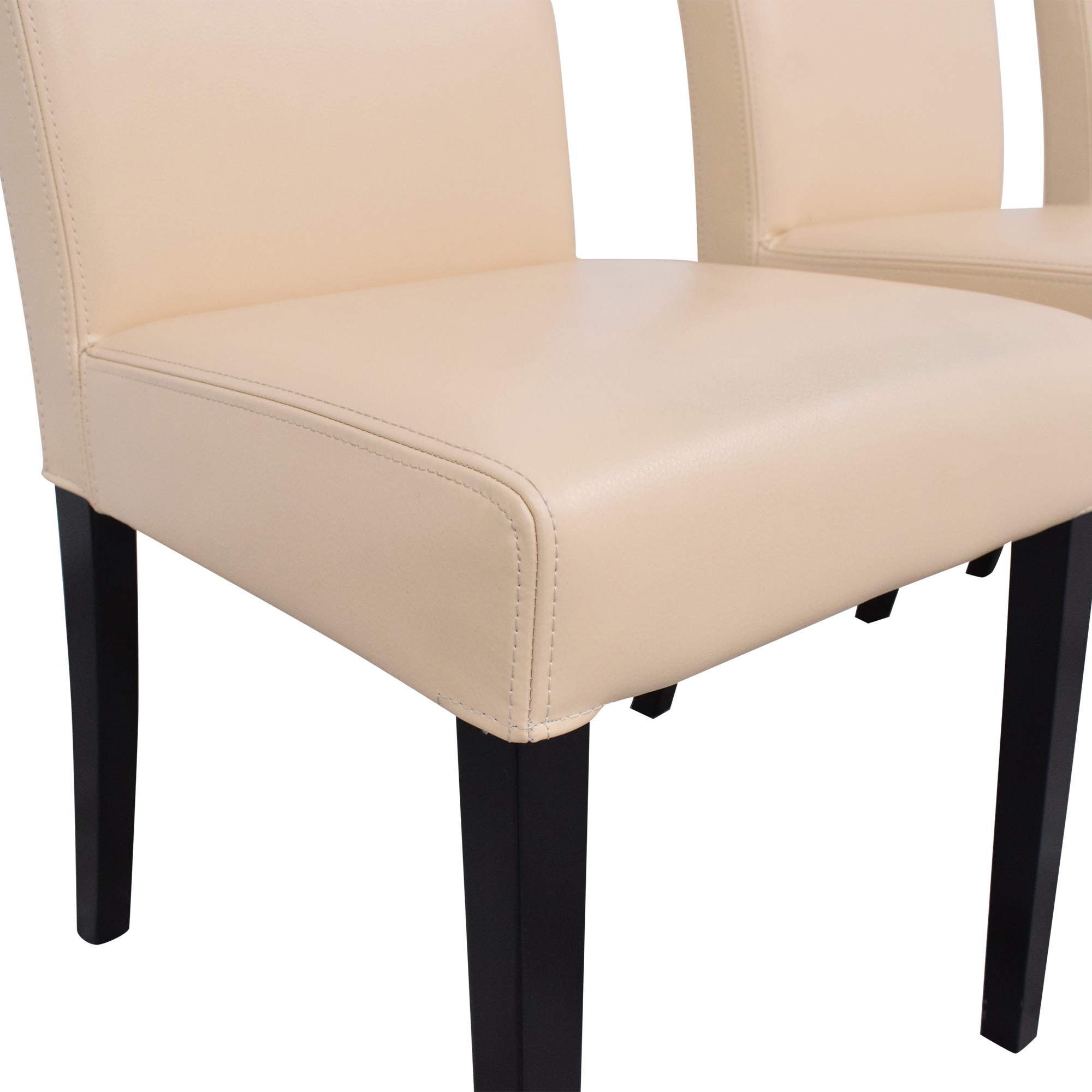 Crate & Barrel Lowe Ivory Dining Chairs / Chairs