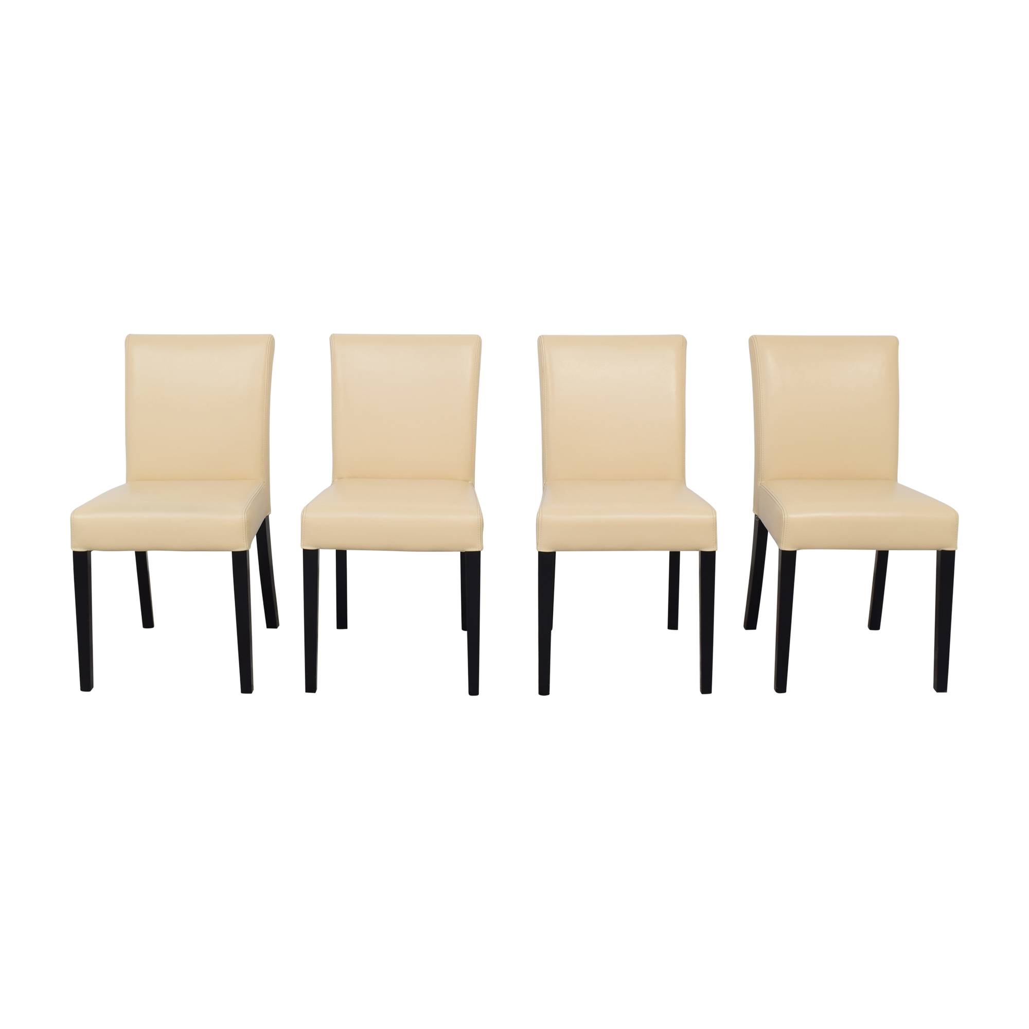 buy Crate & Barrel Lowe Ivory Dining Chairs Crate & Barrel
