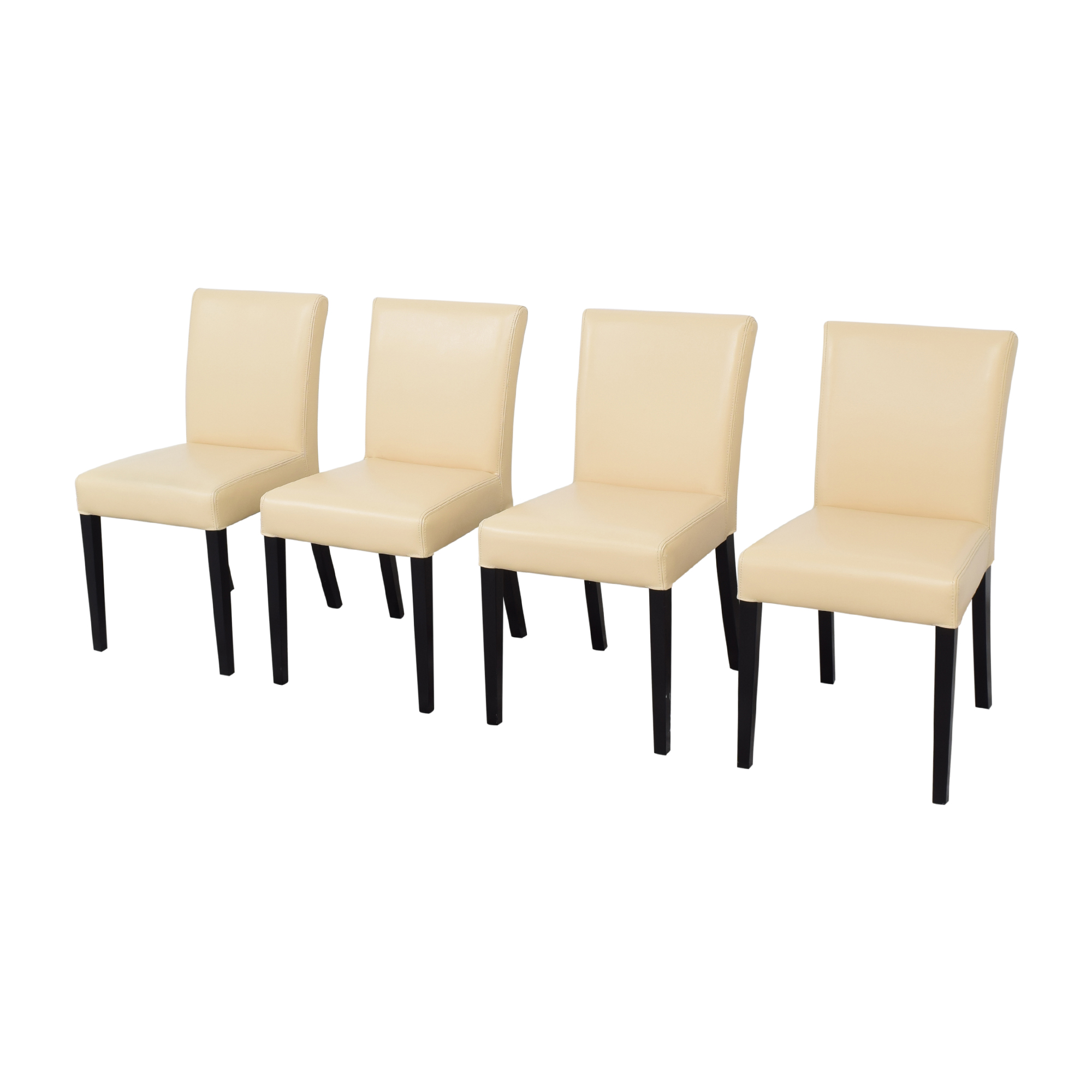buy Crate & Barrel Crate & Barrel Lowe Ivory Dining Chairs online