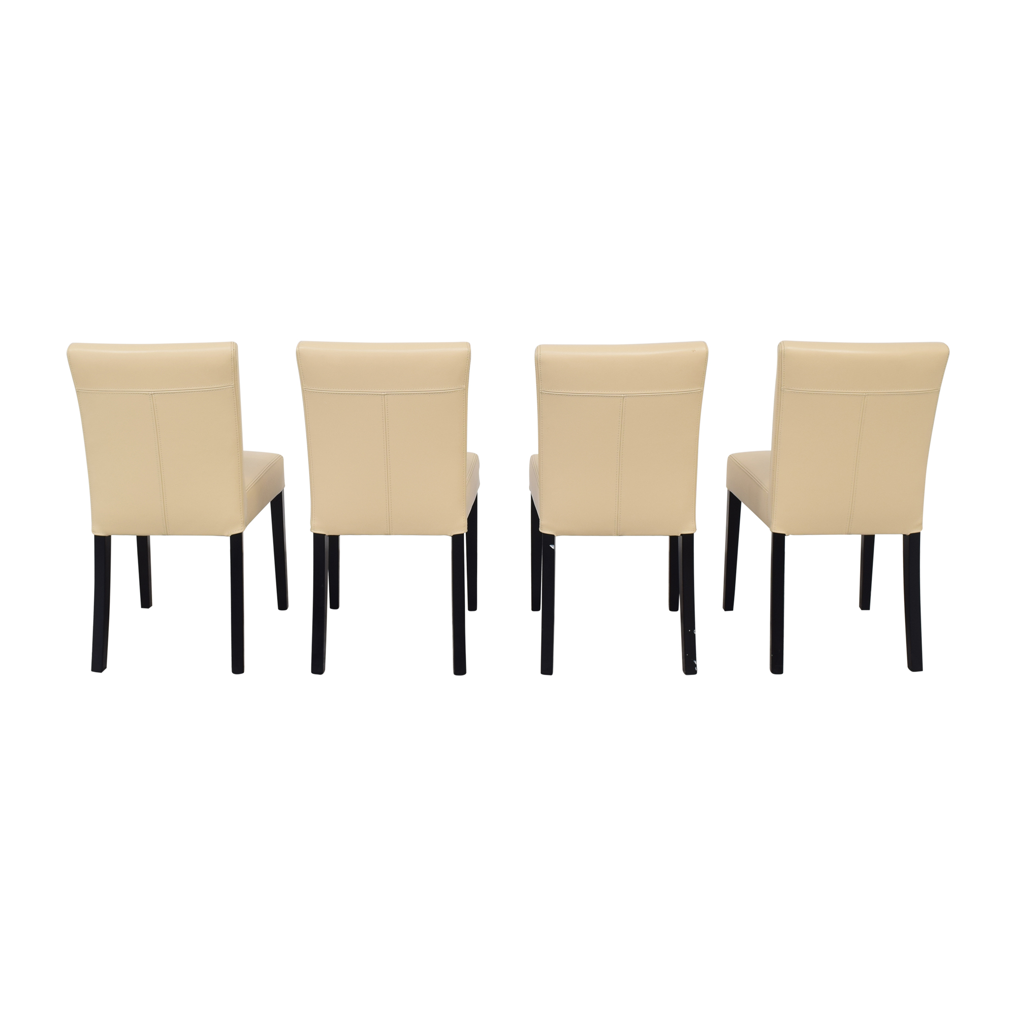 Crate & Barrel Lowe Ivory Dining Chairs sale