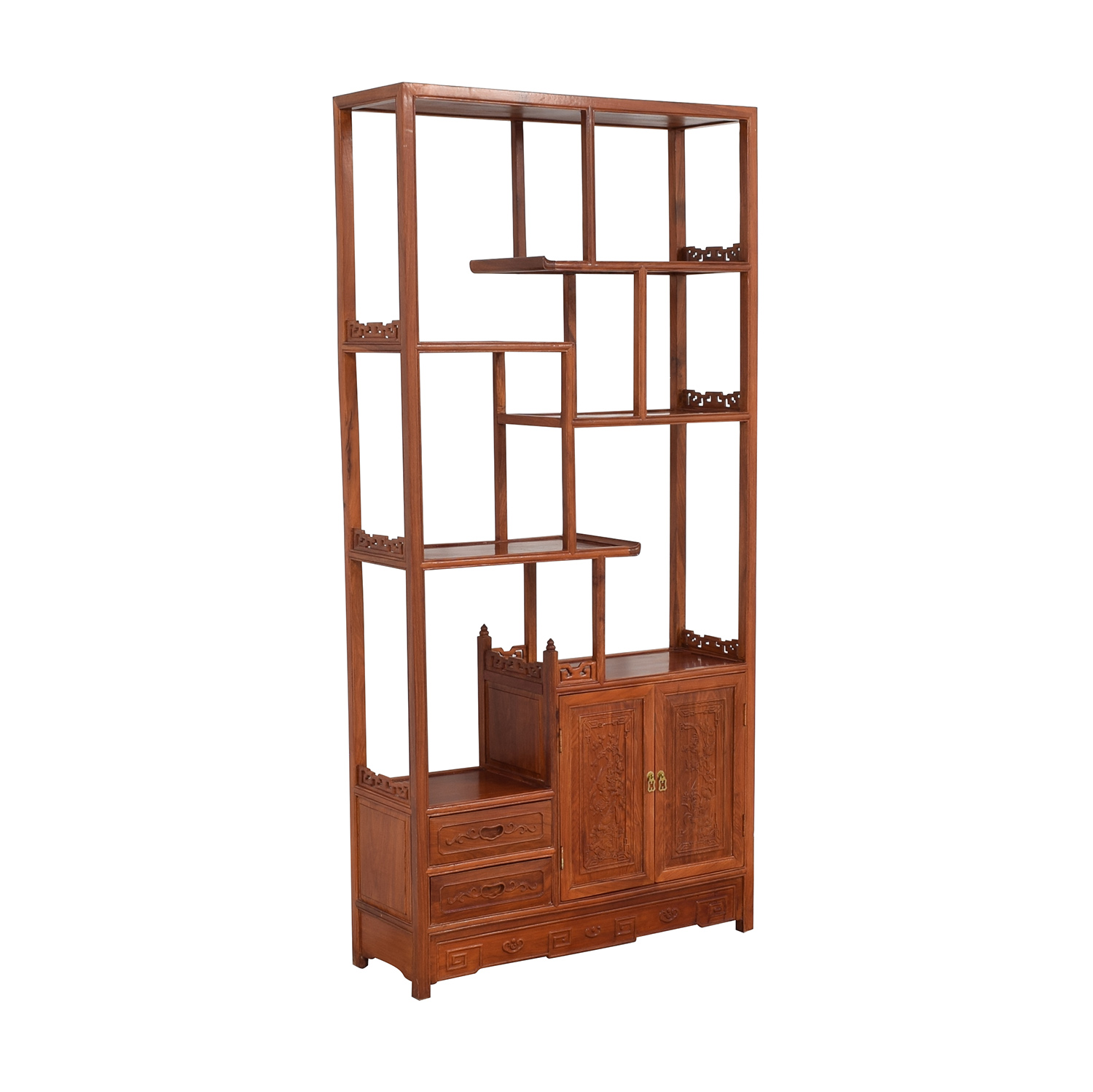 Carved Modular Bookcase Bookcases & Shelving