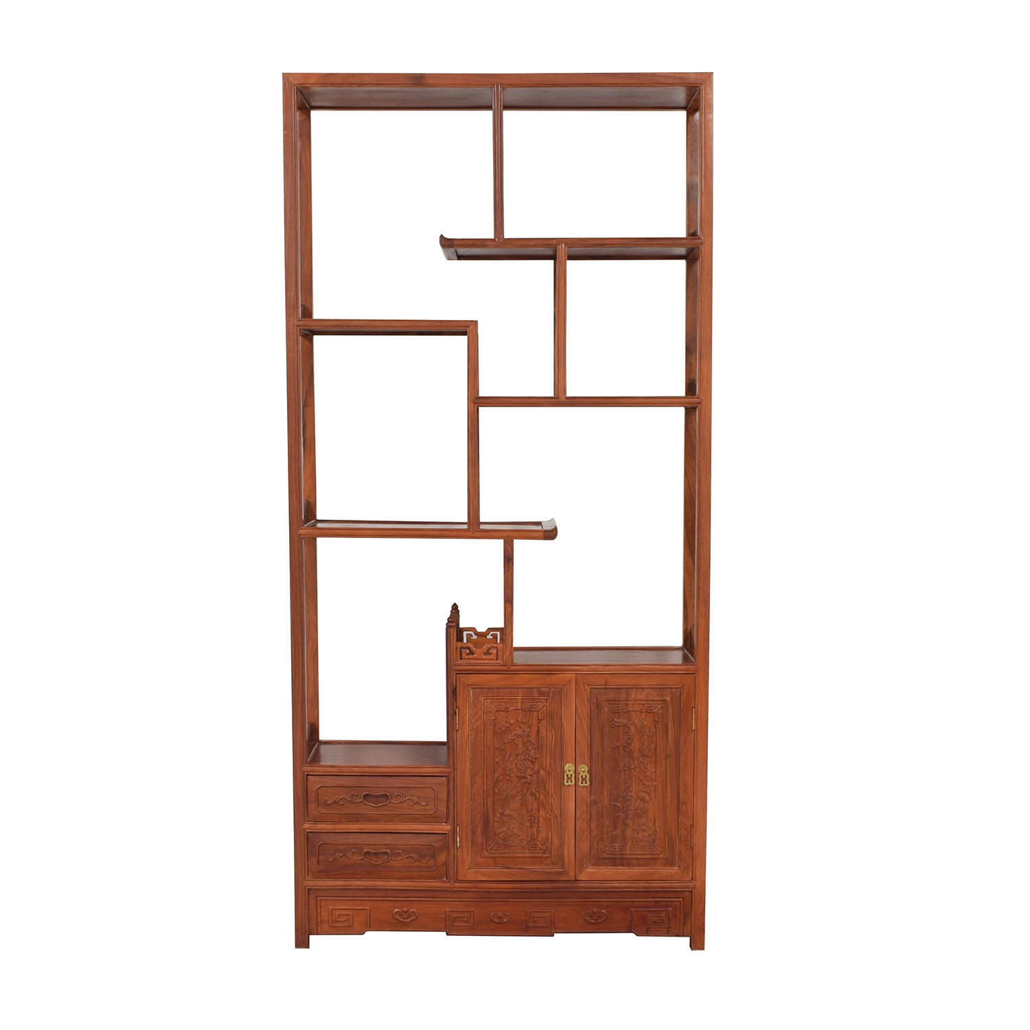 buy Carved Modular Bookcase  Bookcases & Shelving